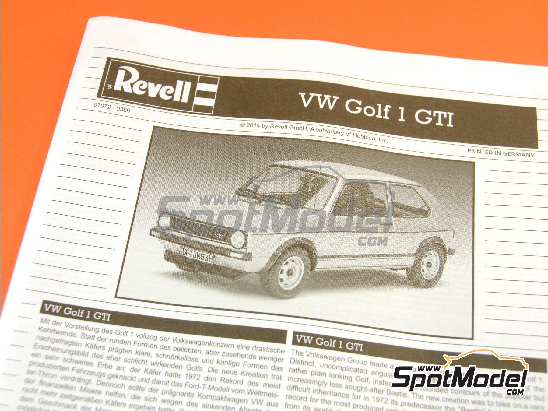 Image 11: Volkswagen Golf I GTI | Maqueta de coche en escala1/24 fabricado por Revell (ref.REV07072, tambien 07072 y 80-7072)