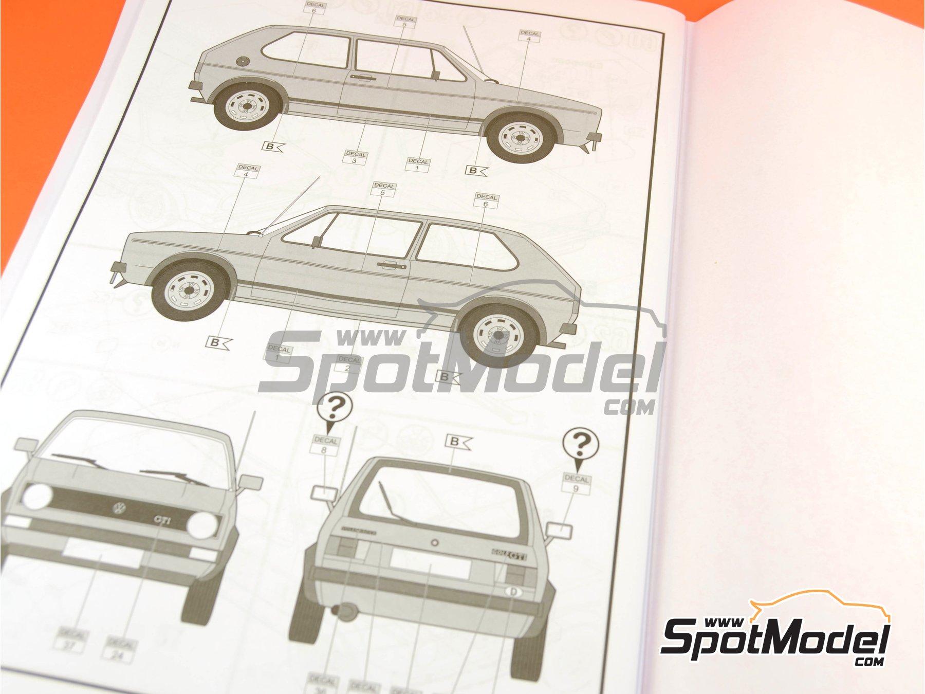 Image 16: Volkswagen Golf I GTI | Maqueta de coche en escala1/24 fabricado por Revell (ref.REV07072, tambien 07072 y 80-7072)