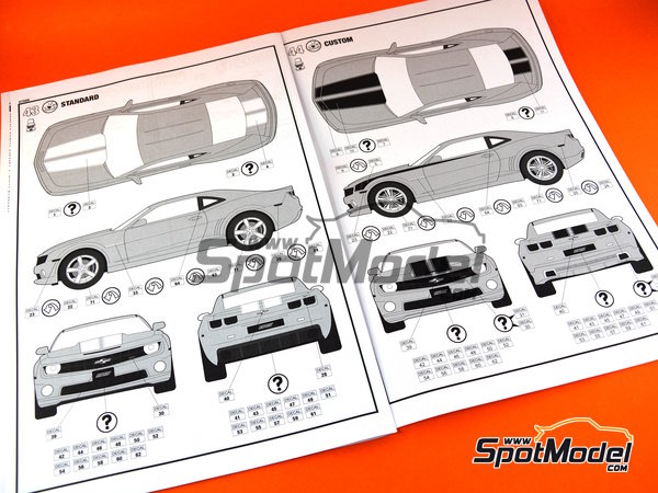 Image 9: Chevrolet Camaro SS -  2010 | Model car kit in 1/25 scale manufactured by Revell (ref. REV07088)