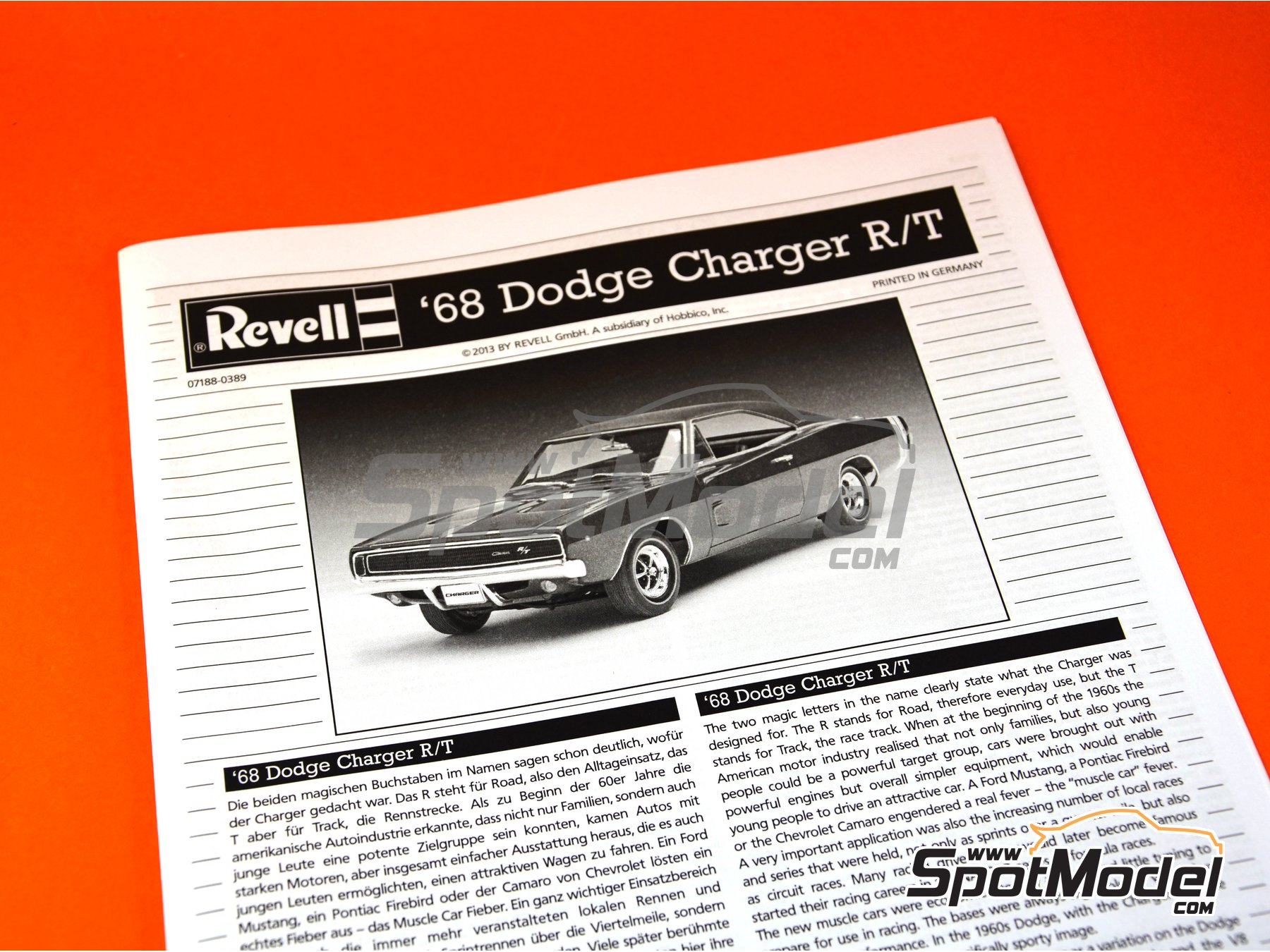 Image 4: Dodge Charger R/T -  1968 | Model car kit in 1/25 scale manufactured by Revell (ref. REV07188)