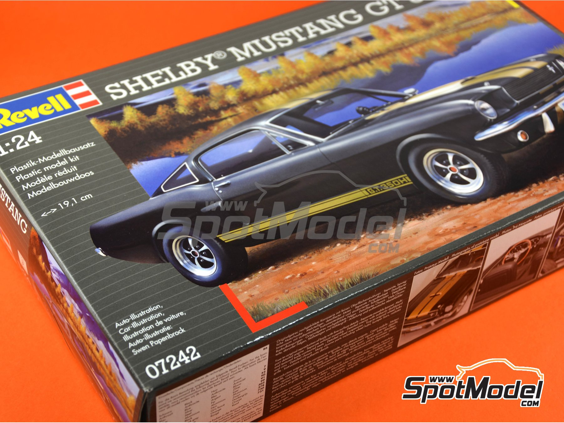 Image 4: Shelby Mustang GT 350 H | Model car kit in 1/24 scale manufactured by Revell (ref.REV07242)