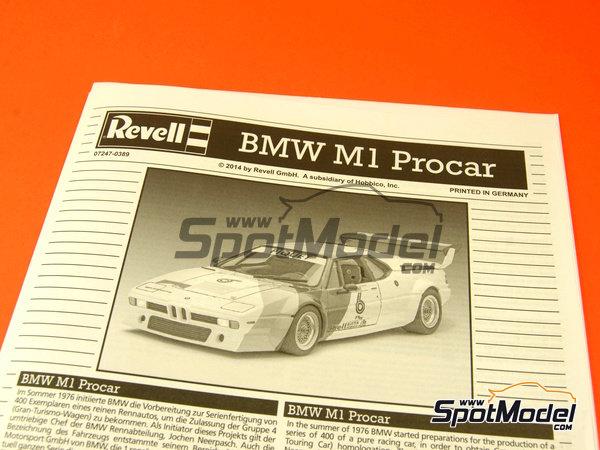 Image 1: BMW M1 Grupo 4 Procar - Zolder DRM 1979 y 2008 | Maqueta de coche en escala1/24 fabricado por Revell (ref.REV07247, tambien 07247 y 80-7247)
