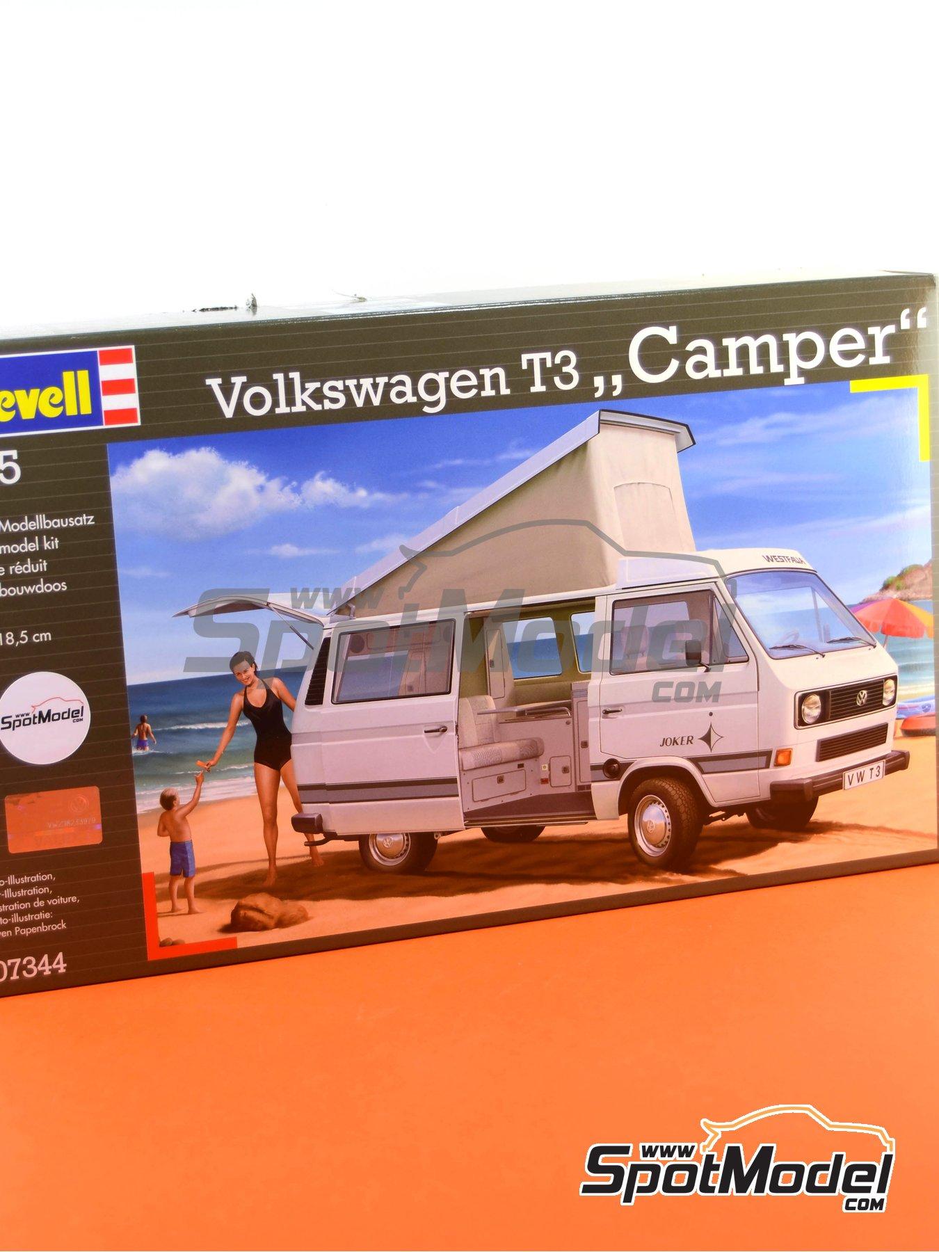 Volkswagen Transporter T3 Westfalia Joker Camper | Model car kit in 1/25 scale manufactured by Revell (ref.REV07344, also 07344 and 80-7344) image