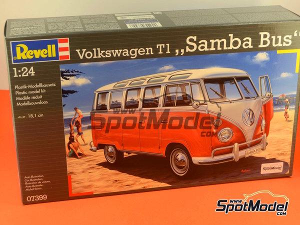 Image 11: Volkswagen Transporter T1 -  1962 | Model van kit in 1/24 scale manufactured by Revell (ref.REV07399, also 07399)