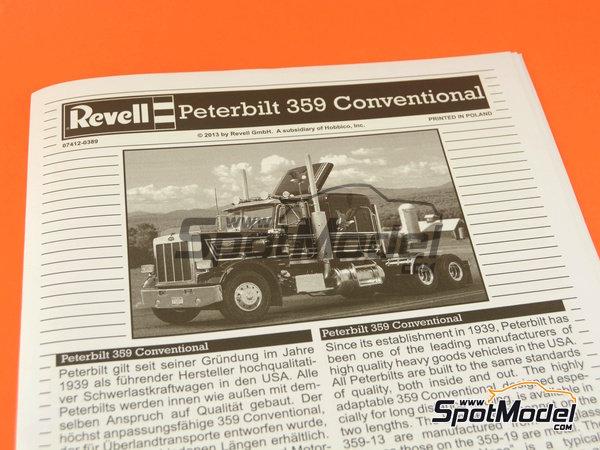 Image 12: Peterbilt 359 Conventional | Maqueta de camión en escala1/25 fabricado por Revell (ref.REV07412)