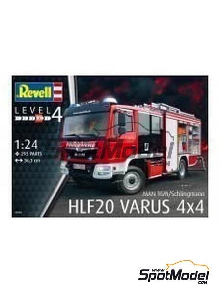 MAN TGM / Schlingmann HLF20 VARUS 4x4 | Maqueta de camión en escala1/24 fabricado por Revell (ref.REV07452, tambien 7452) image