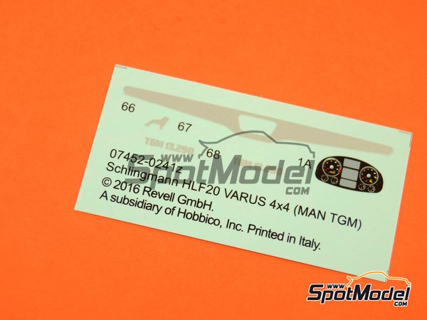 Image 20: MAN TGM / Schlingmann HLF20 VARUS 4x4 | Maqueta de camión en escala1/24 fabricado por Revell (ref.REV07452, tambien 7452)
