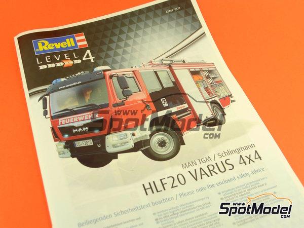 Image 22: MAN TGM / Schlingmann HLF20 VARUS 4x4 | Maqueta de camión en escala1/24 fabricado por Revell (ref.REV07452, tambien 7452)
