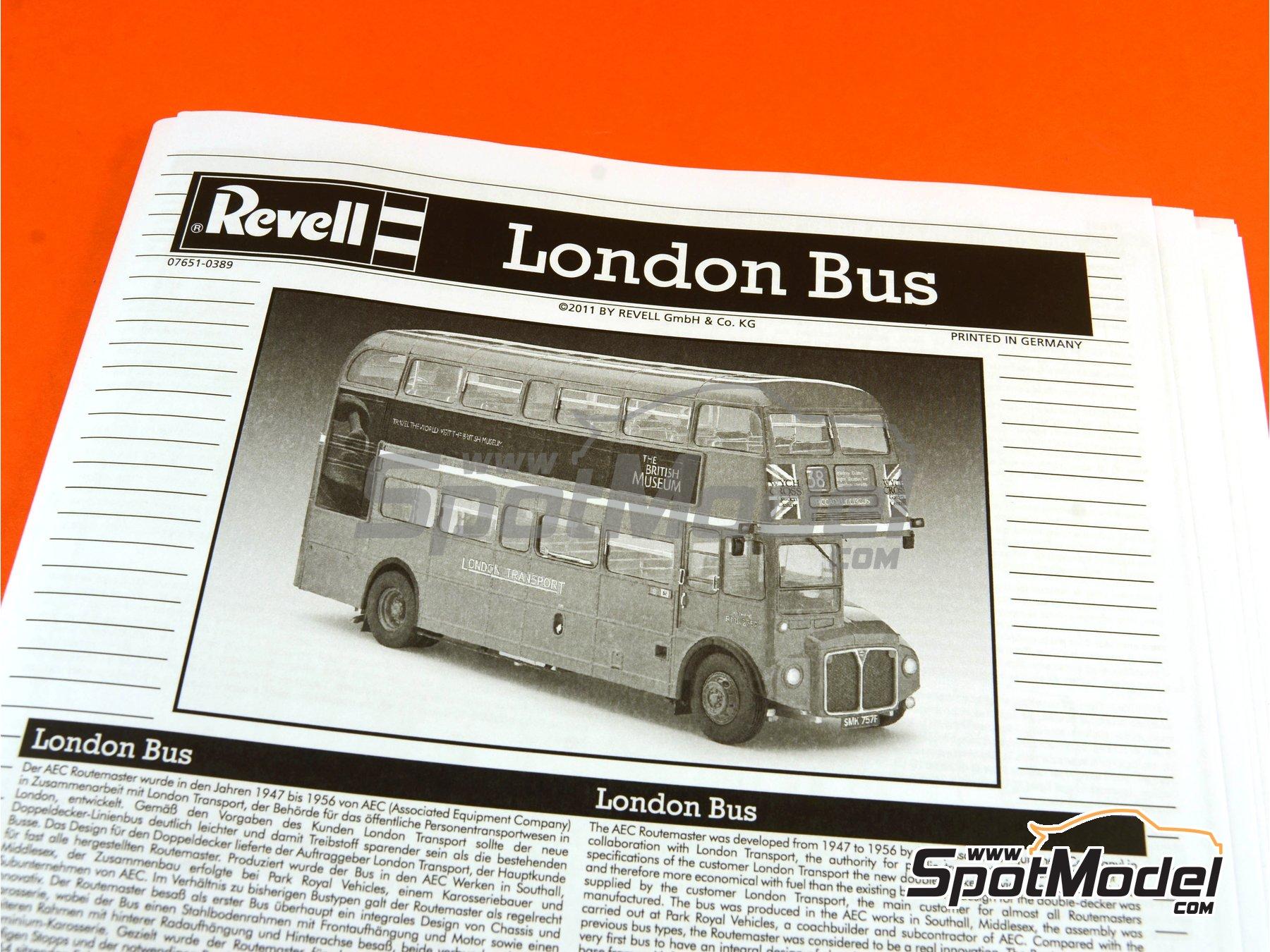 Image 23: Routermaster bus de Londres | Maqueta de camión en escala1/24 fabricado por Revell (ref.REV07651, tambien 85-7651)
