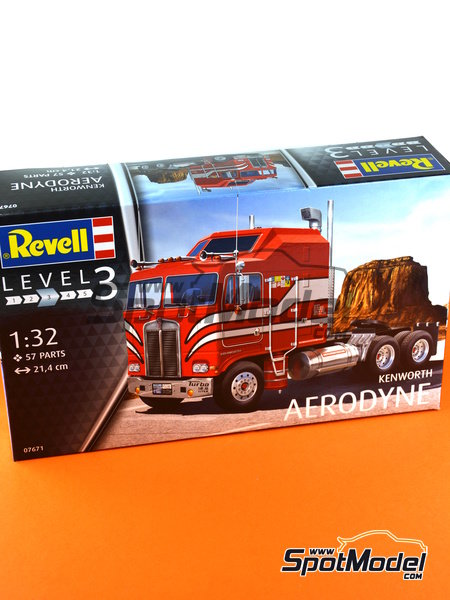 Kenworth COE Aerodyne | Model truck kit in 1/32 scale manufactured by Revell (ref. REV07671) image
