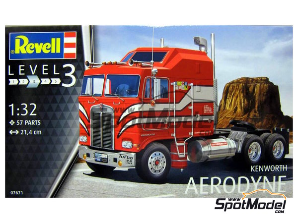 Image 1: Kenworth COE Aerodyne | Model truck kit in 1/32 scale manufactured by Revell (ref. REV07671)