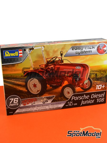 Porsche Diesel Junior 108 tractor | Model tractor kit in 1/24 scale manufactured by Revell (ref. REV07820) image