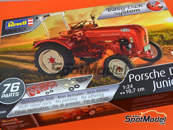 Image 6: Porsche Diesel Junior 108 tractor | Model tractor kit in 1/24 scale manufactured by Revell (ref. REV07820)