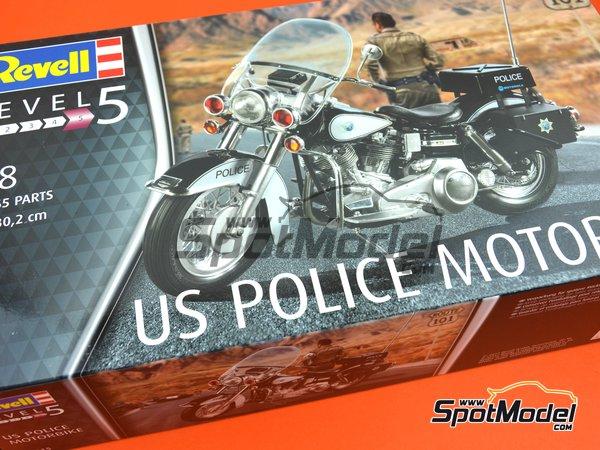 Image 11: US Police Harley Davidson | Model bike kit in 1/8 scale manufactured by Revell (ref.REV07915)