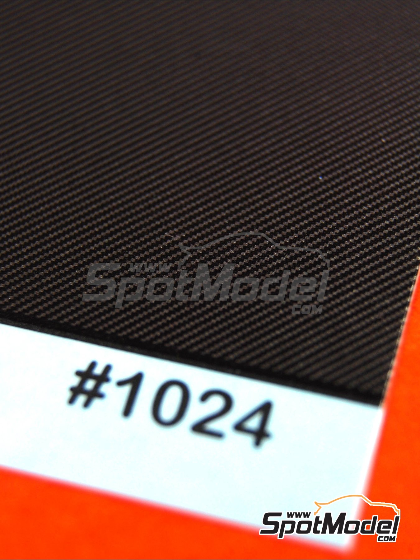 Medium size twill weave carbon fiber patten in black | Decals in 1/24 scale manufactured by Scale Motorsport (ref. SM1024, also 1024) image