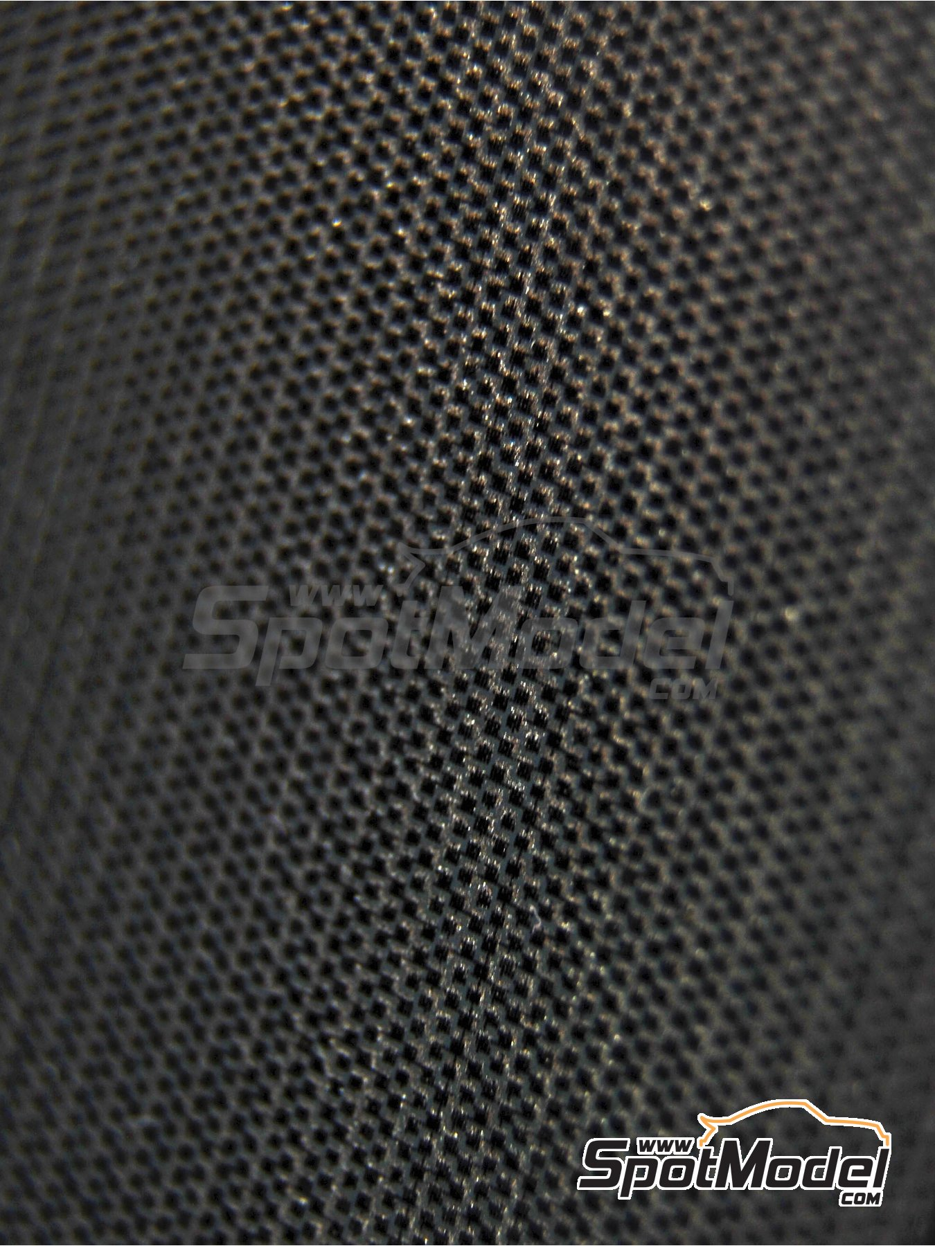 Carbon Fiber high definition plain weave black on pewter big size pattern | Decals in 1/20 scale manufactured by Scale Motorsport (ref. SM1520) image