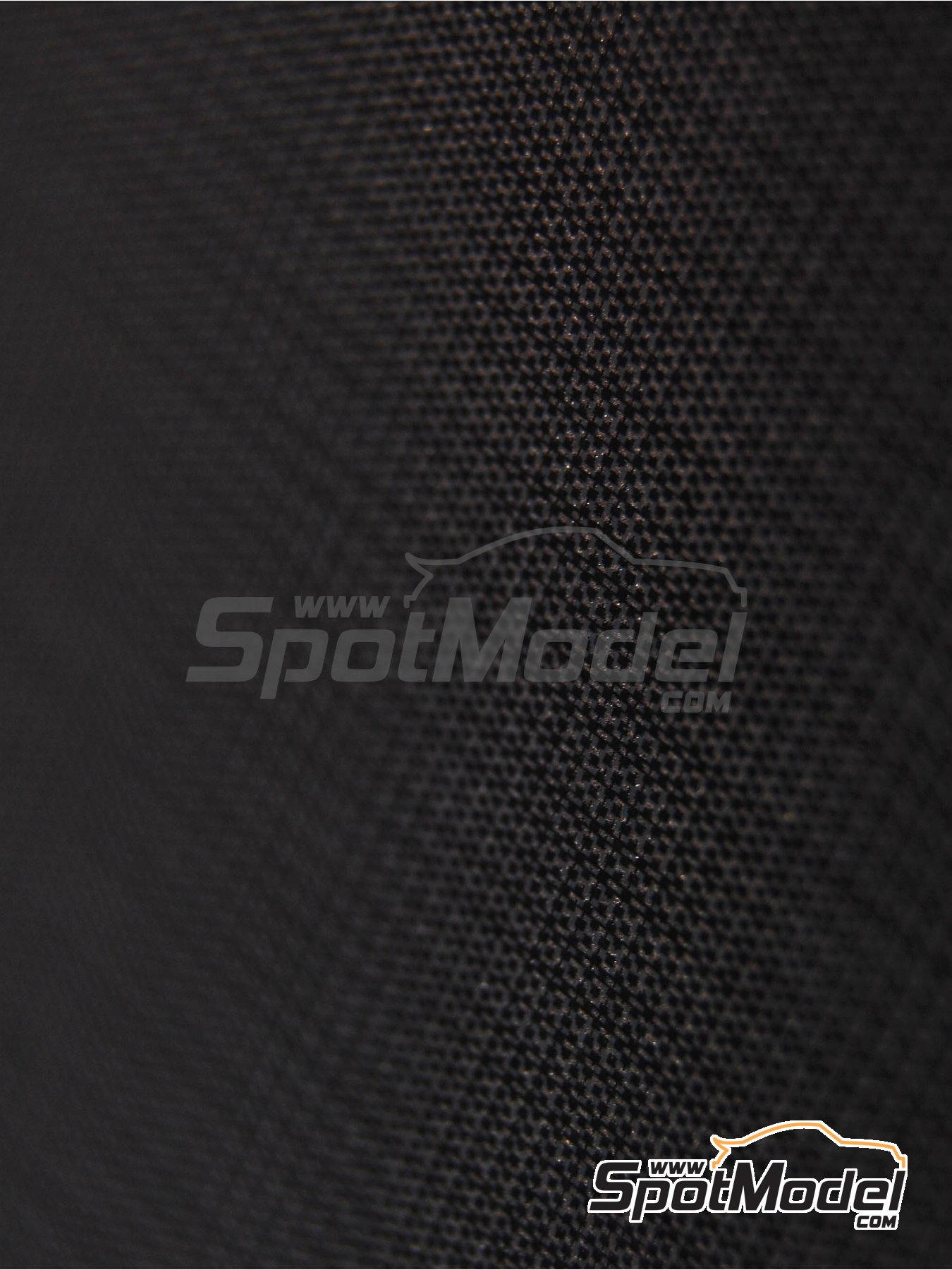 High definition medium sized plain weave carbon fiber patten in black and pewter | Decals in 1/24 scale manufactured by Scale Motorsport (ref. SM1524, also 1524) image