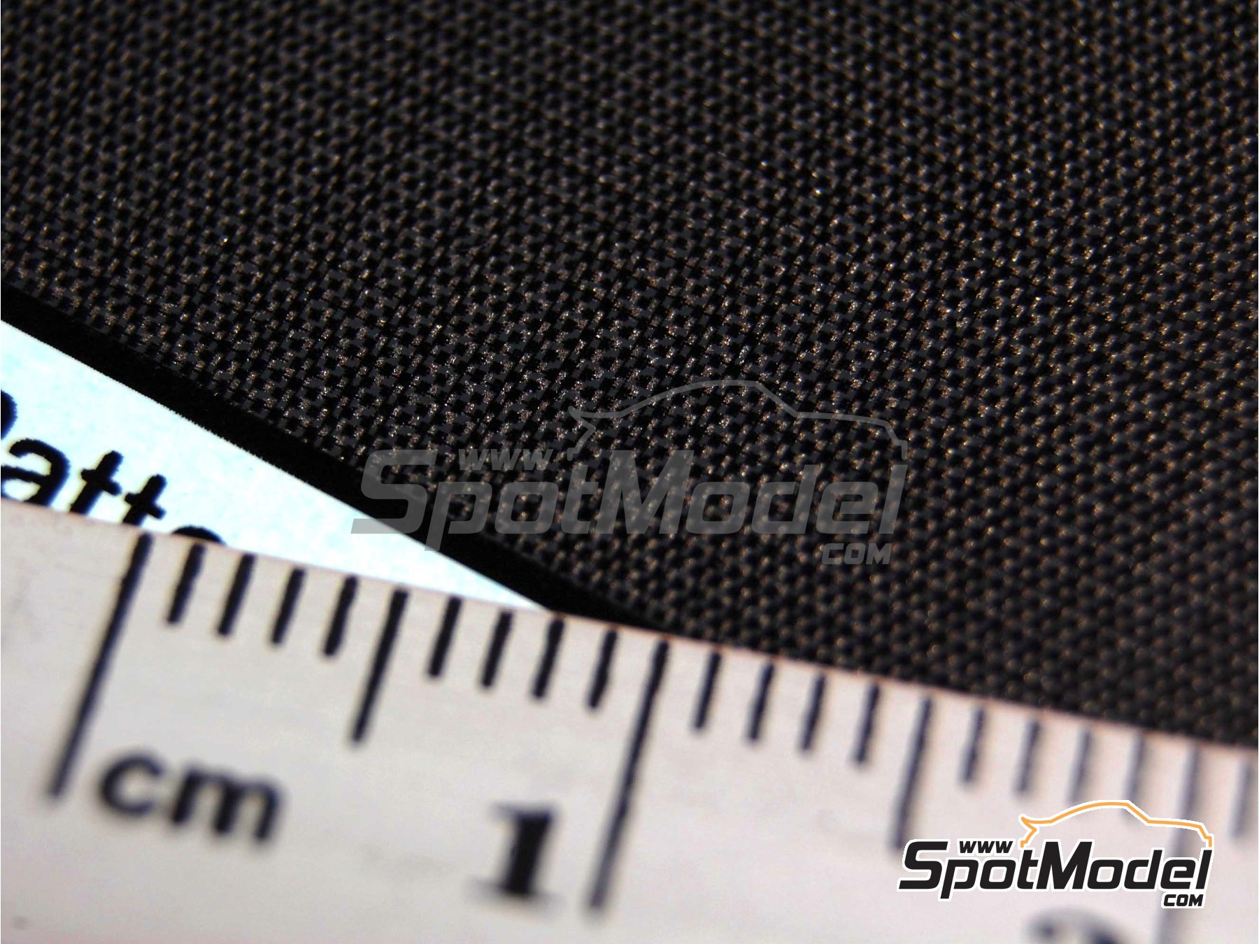 Image 3: High definition medium sized plain weave carbon fiber patten in black and pewter | Decals in 1/24 scale manufactured by Scale Motorsport (ref. SM1524, also 1524)