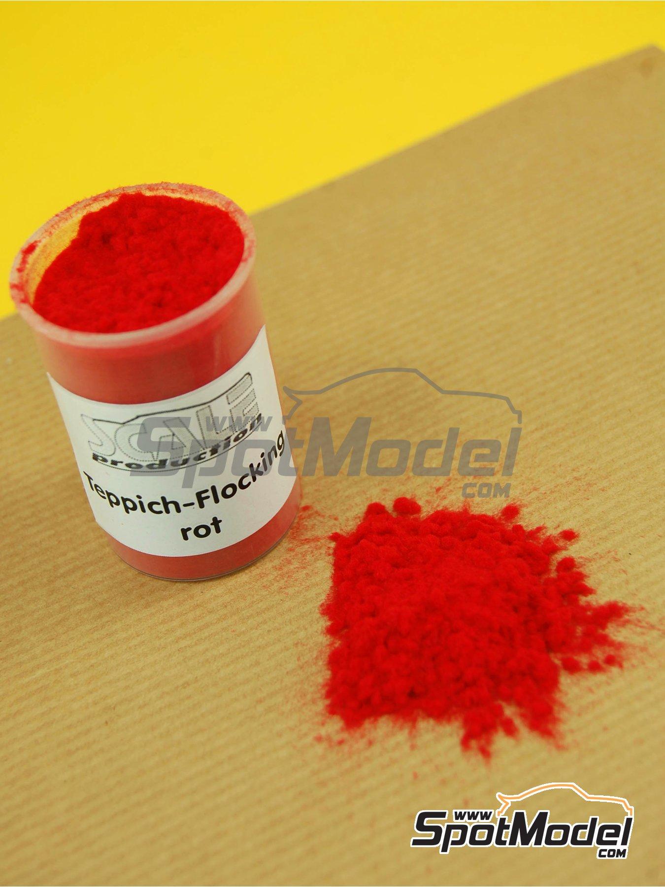 Rojo - Rot | Flocado fabricado por Scale Production (ref.SP-FLOCK5) image