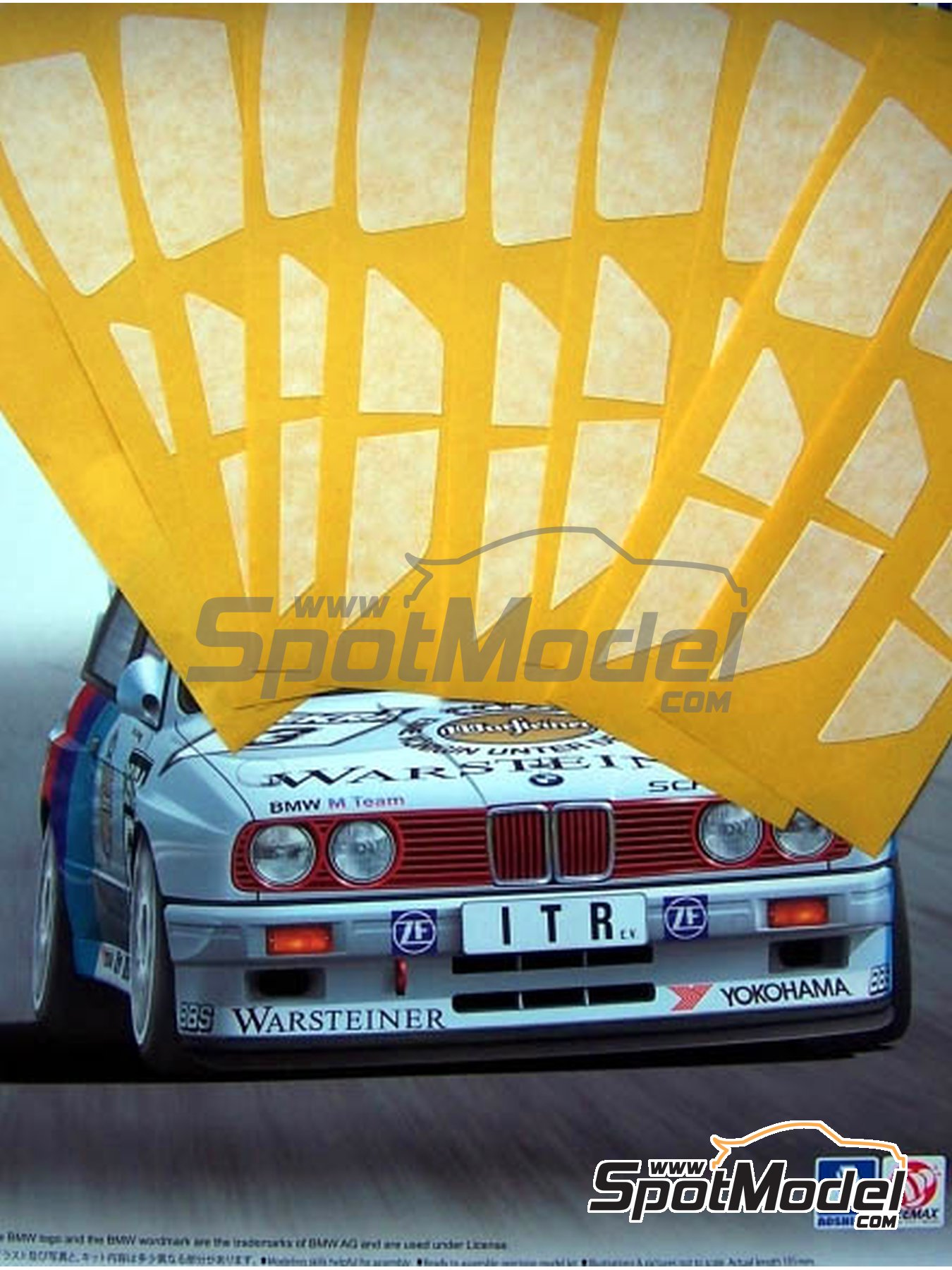 BMW M3 E30 | Máscaras en escala 1/24 fabricado por Scale Production (ref. SP24-SR009) image