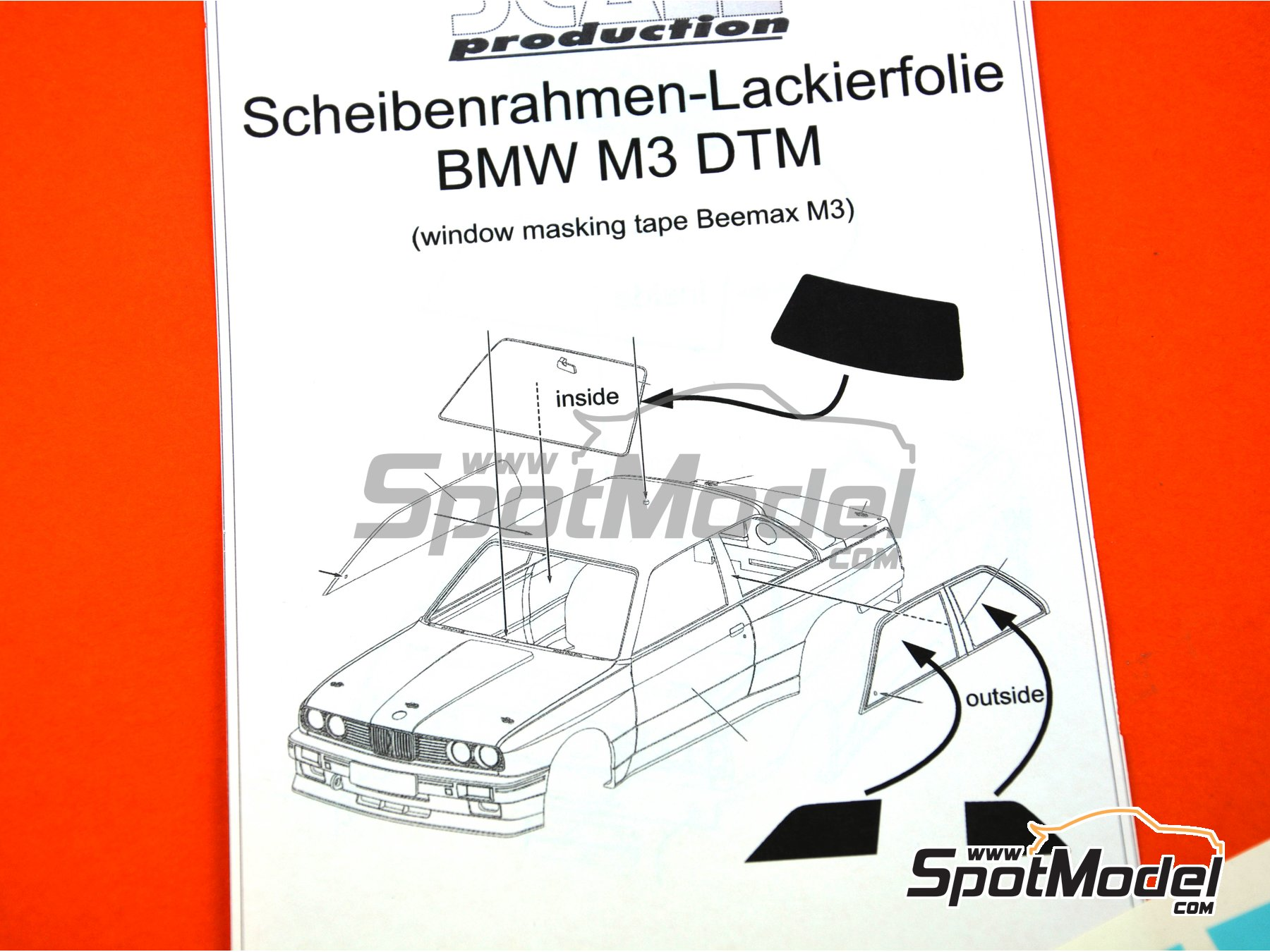 Image 2: BMW M3 E30 | Máscaras en escala 1/24 fabricado por Scale Production (ref. SP24-SR009)