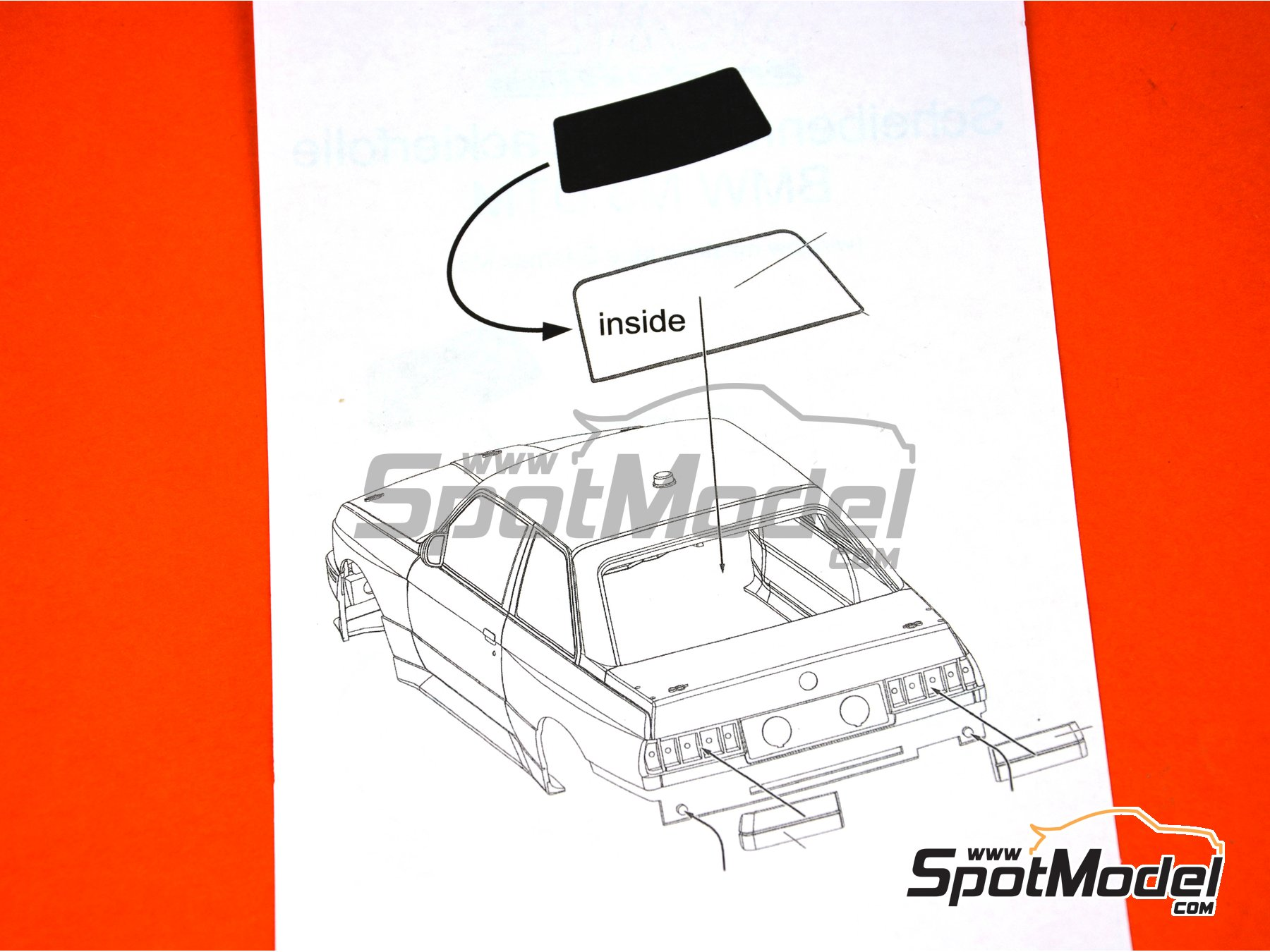 Image 3: BMW M3 E30 | Máscaras en escala 1/24 fabricado por Scale Production (ref. SP24-SR009)