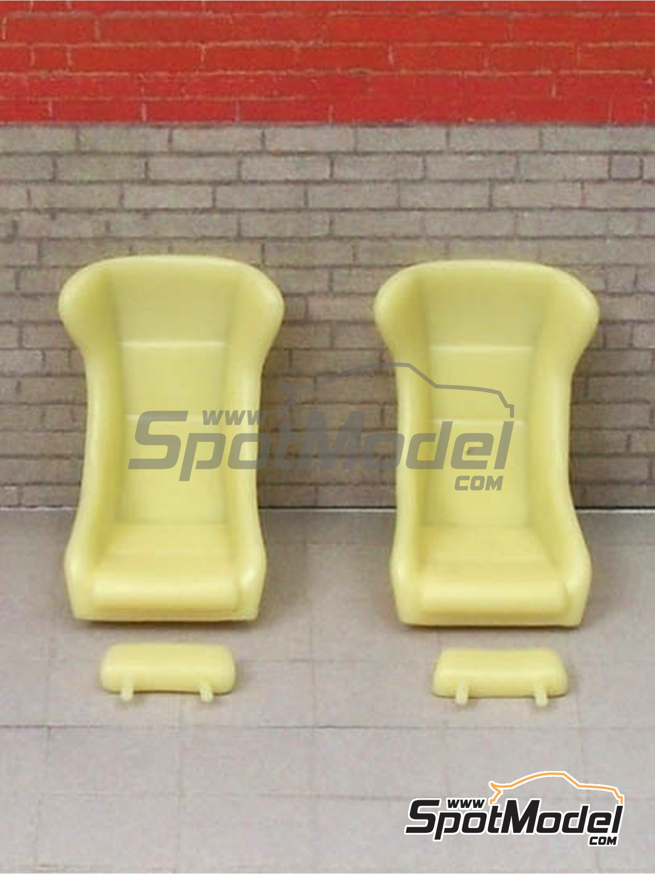 Seats Classic Singer Style | Seat in 1/24 scale manufactured by Scale Production (ref. SP24234) image