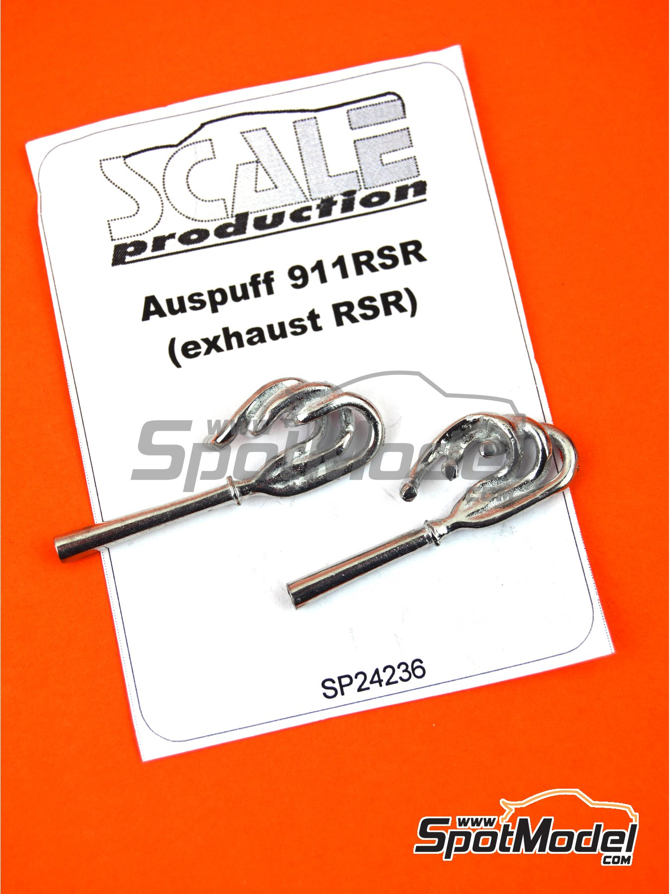 Porsche 911 RSR | Escapes en escala1/24 fabricado por Scale Production (ref.SP24236) image