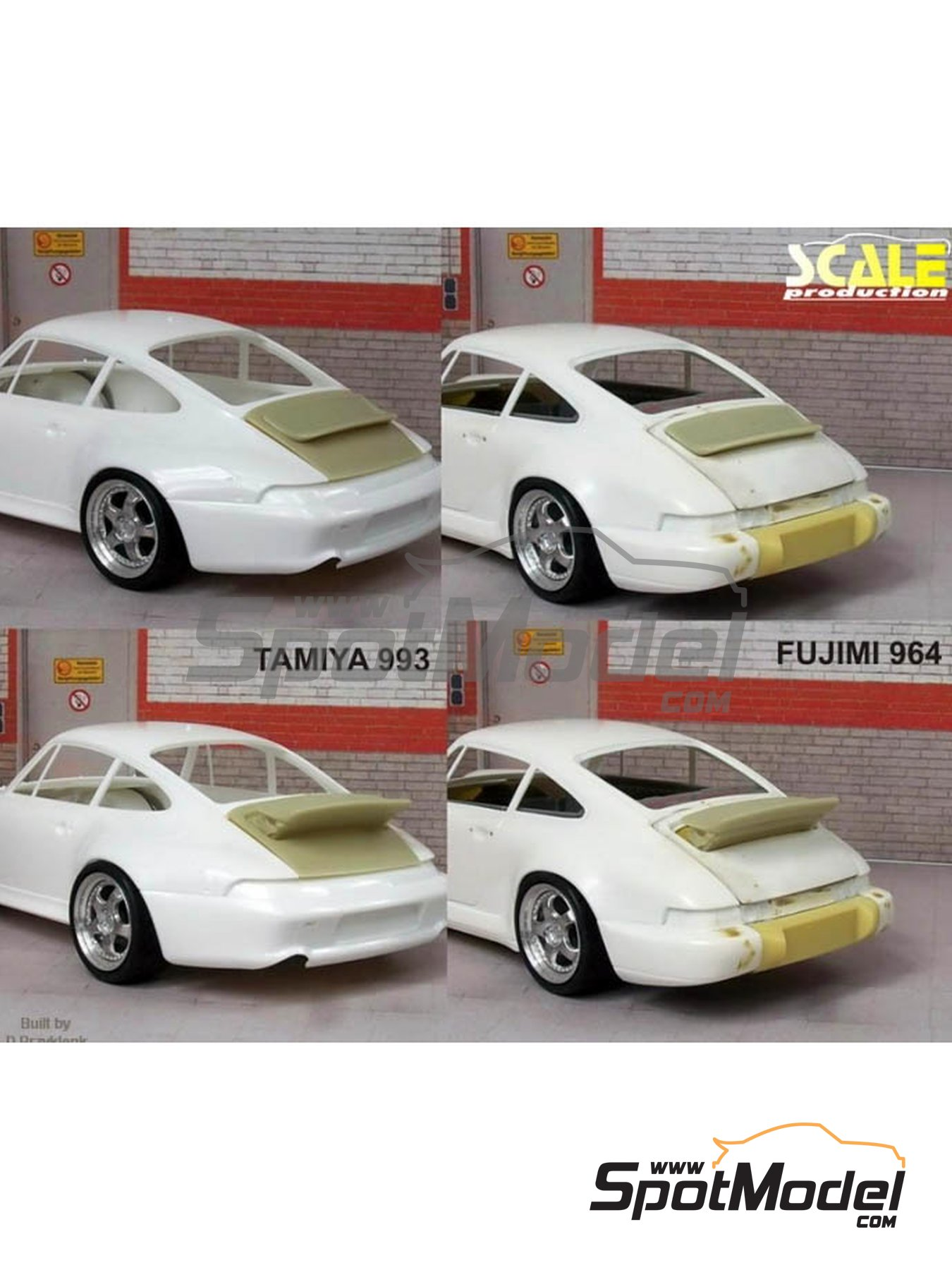 Porsche 964 993 Singer style spoiler | Transkit in 1/24 scale manufactured by Scale Production (ref.SP24259) image