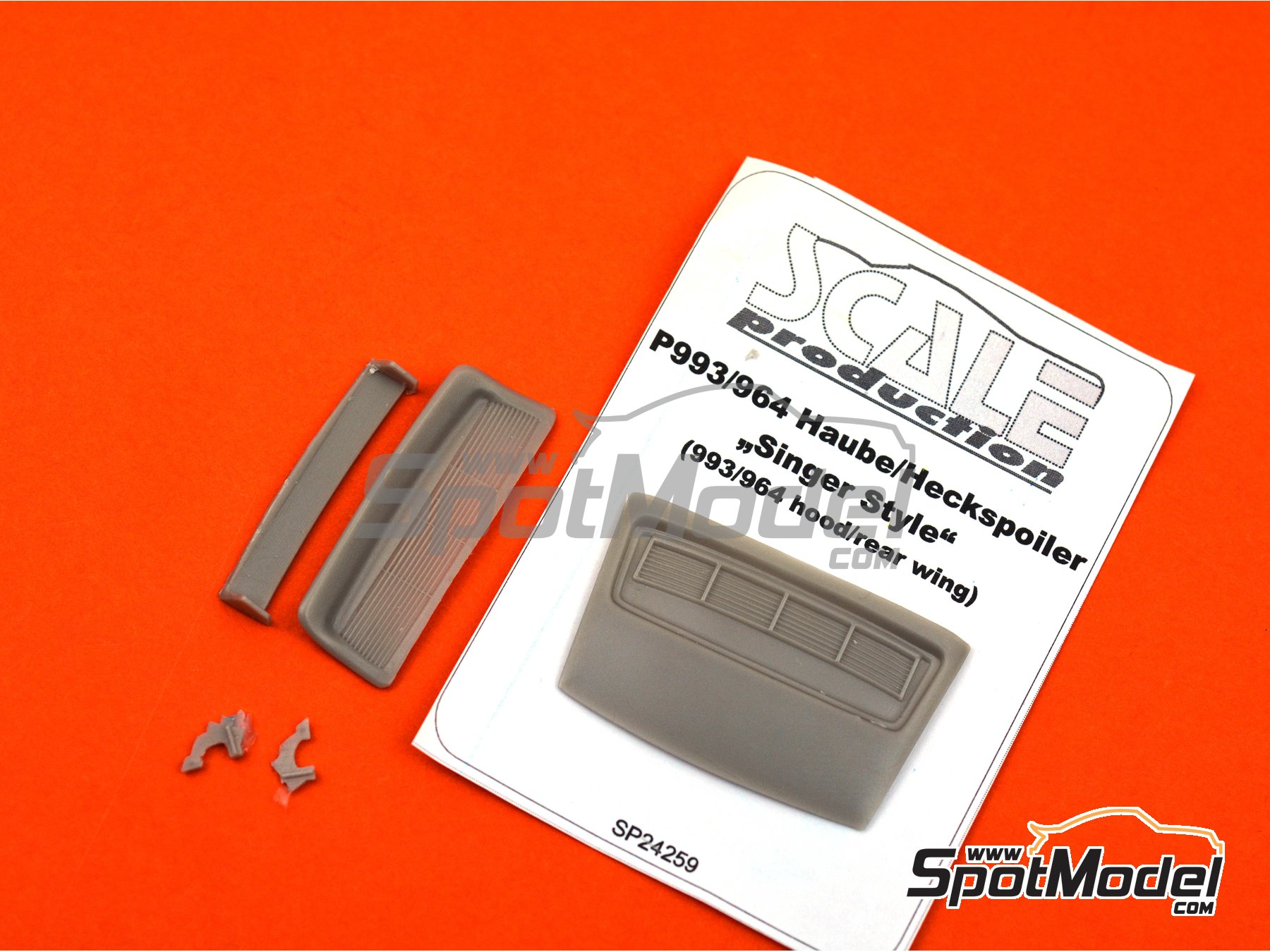 Image 2: Porsche 964 993 Singer style spoiler | Transkit in 1/24 scale manufactured by Scale Production (ref.SP24259)