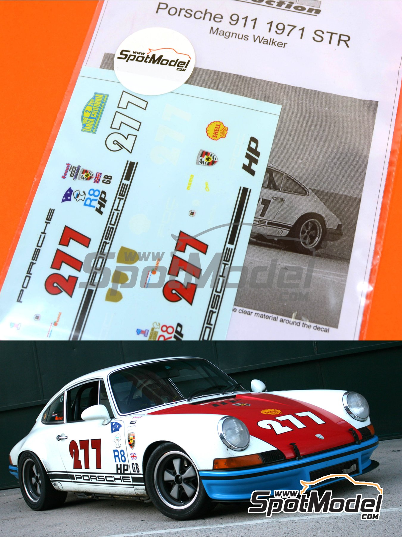 Porsche 911 Magnus Walker STR -  1971 | Marking / livery in 1/24 scale manufactured by Scale Production (ref. SPD24-MW) image