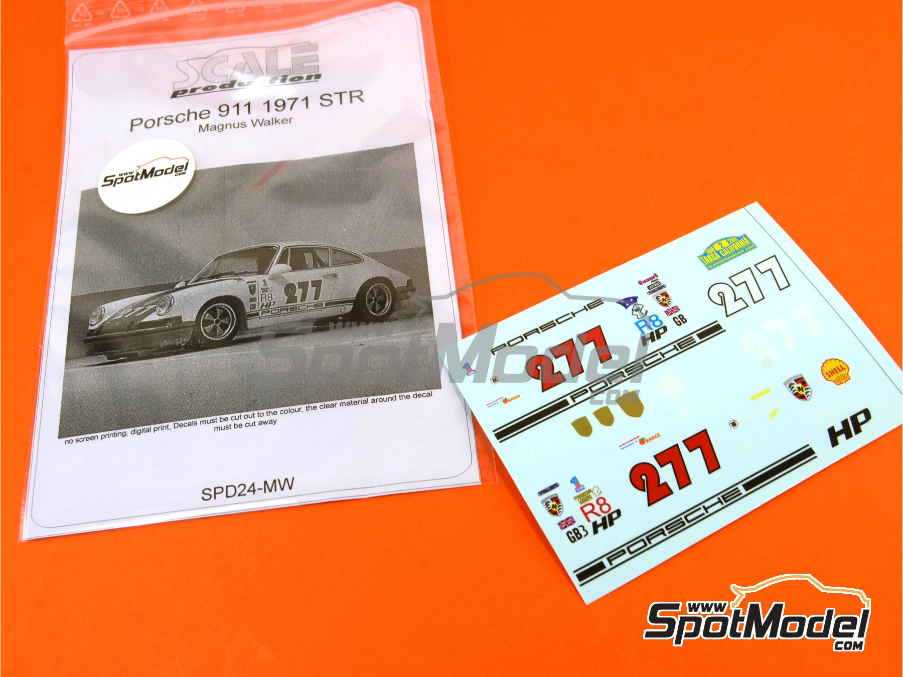 Image 1: Porsche 911 Magnus Walker STR -  1971 | Marking / livery in 1/24 scale manufactured by Scale Production (ref. SPD24-MW)