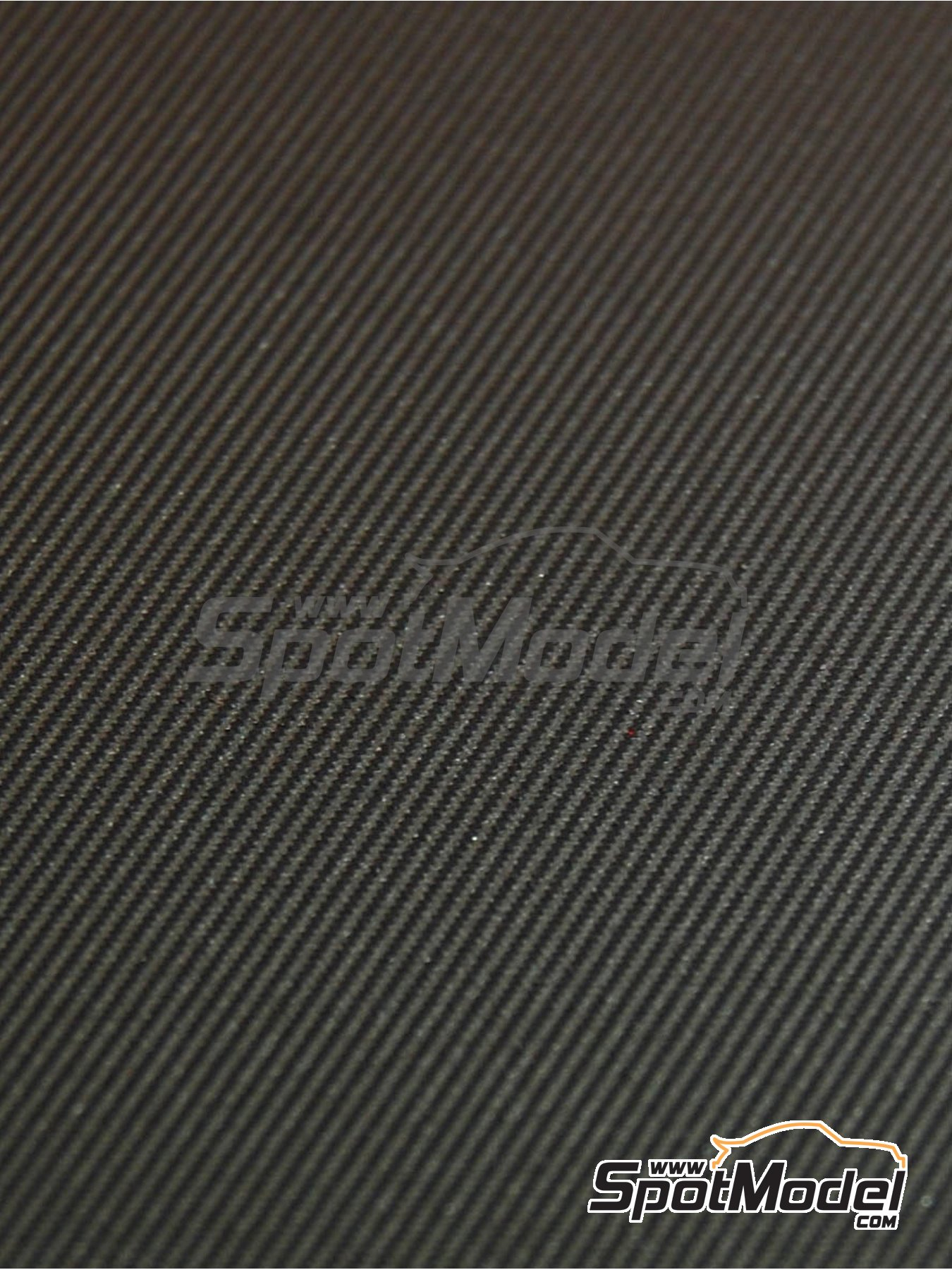 Twill weave carbon fiber - silver + black - Small size - 150x210mm   Decals manufactured by Scale Production (ref.SPD24050) image
