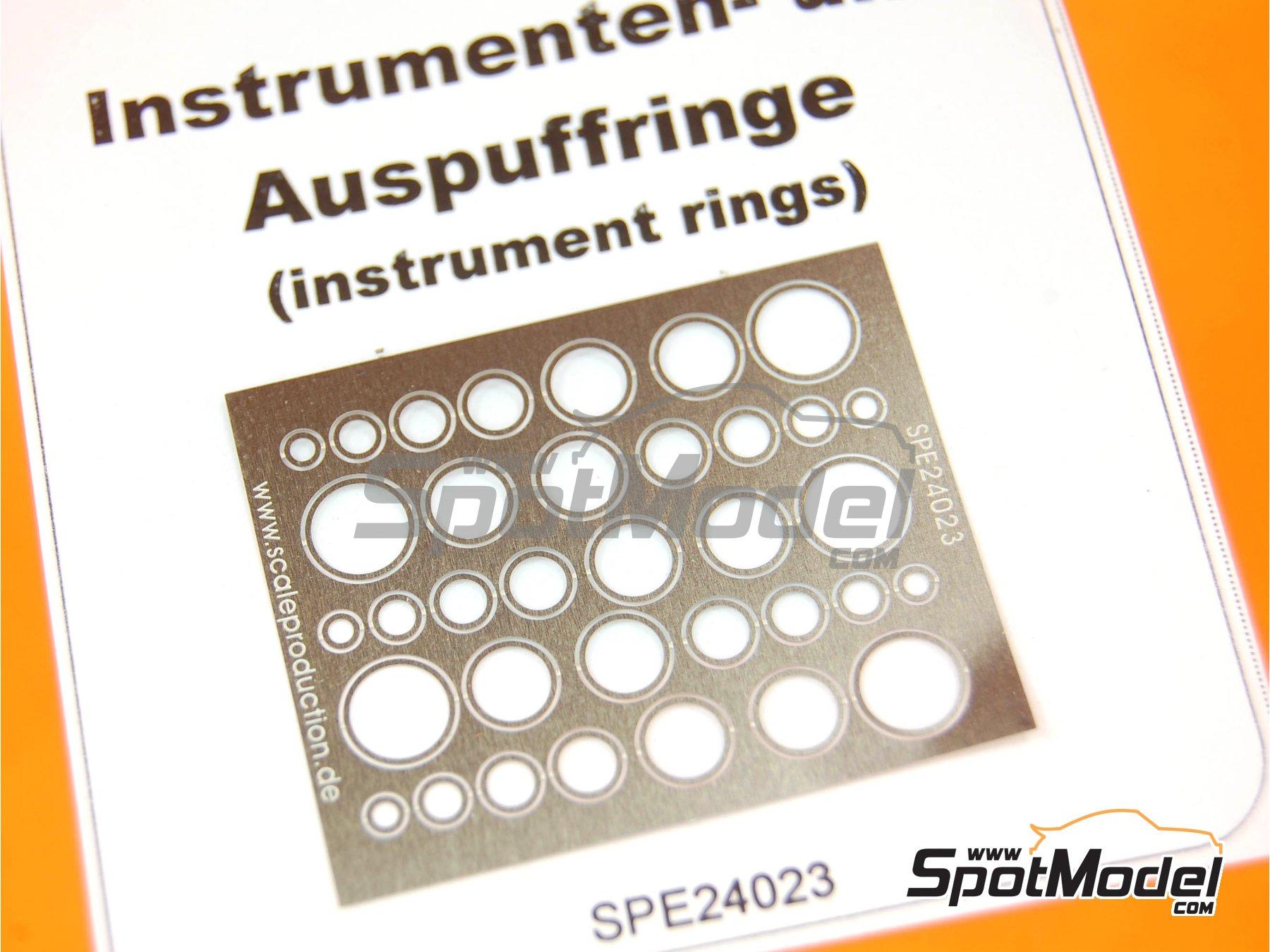 Image 2: Embellecedores para velocimetros - Instrument ring | Detalle fabricado por Scale Production (ref.SPE24023)