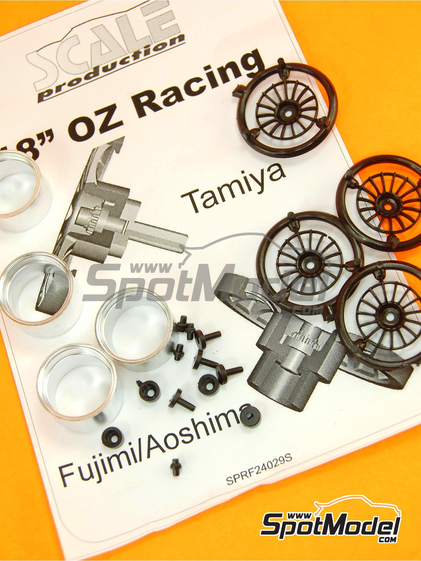 OZ Racing 18 inches | Rims in 1/24 scale manufactured by Scale Production (ref. SPRF24029S) image
