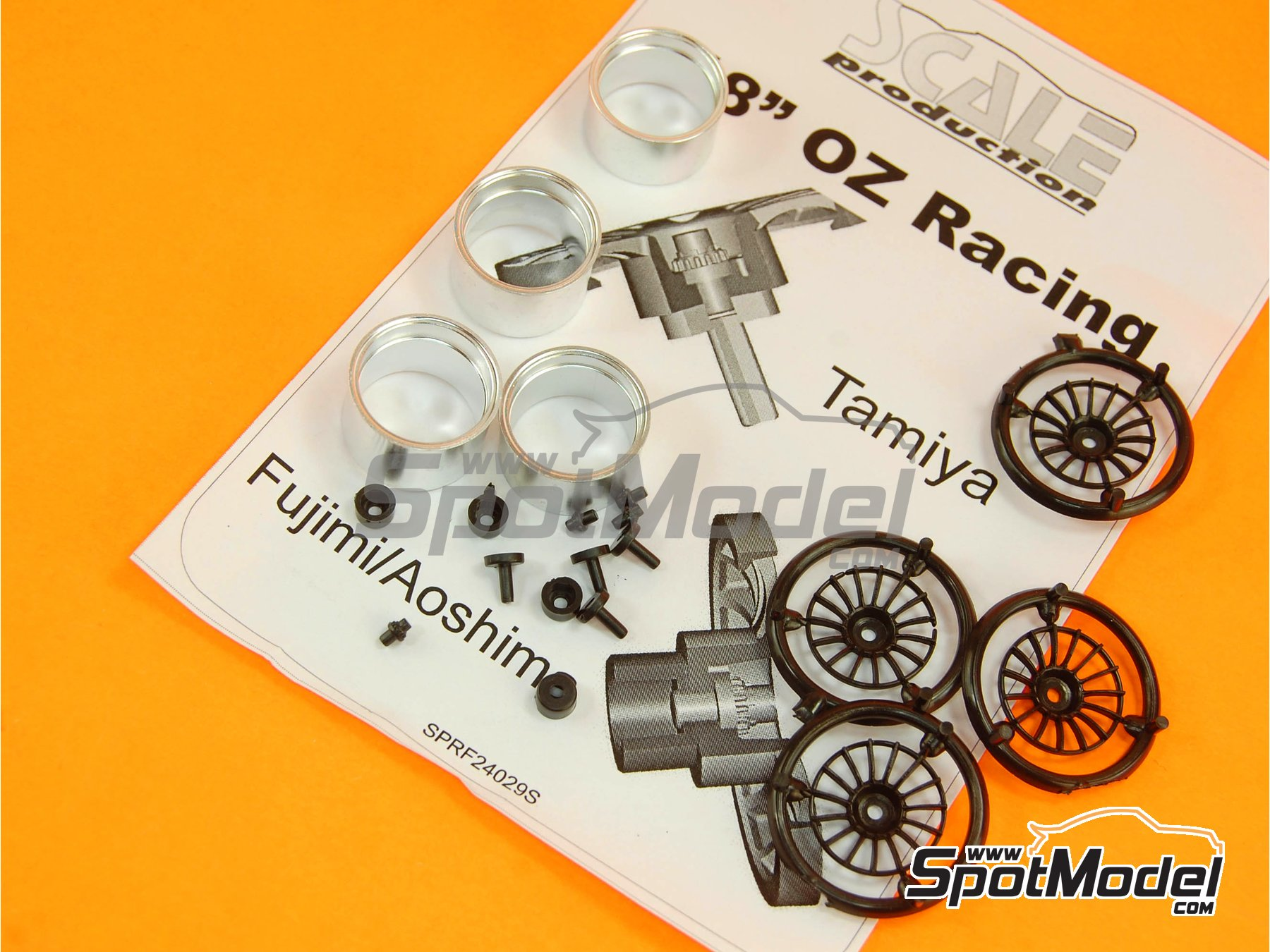 Image 7: OZ Racing 18 inches | Rims in 1/24 scale manufactured by Scale Production (ref. SPRF24029S)