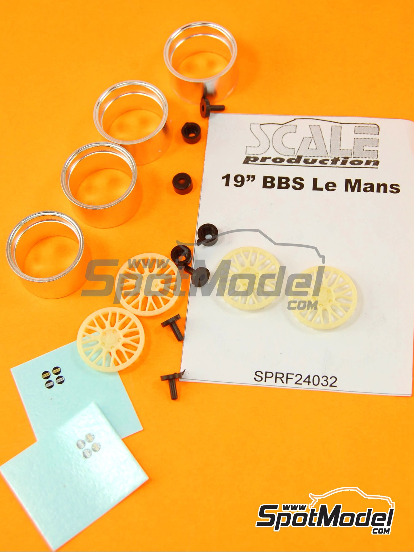 BBS Le Mans 19 inches | Rims in 1/24 scale manufactured by Scale Production (ref.SPRF24032) image
