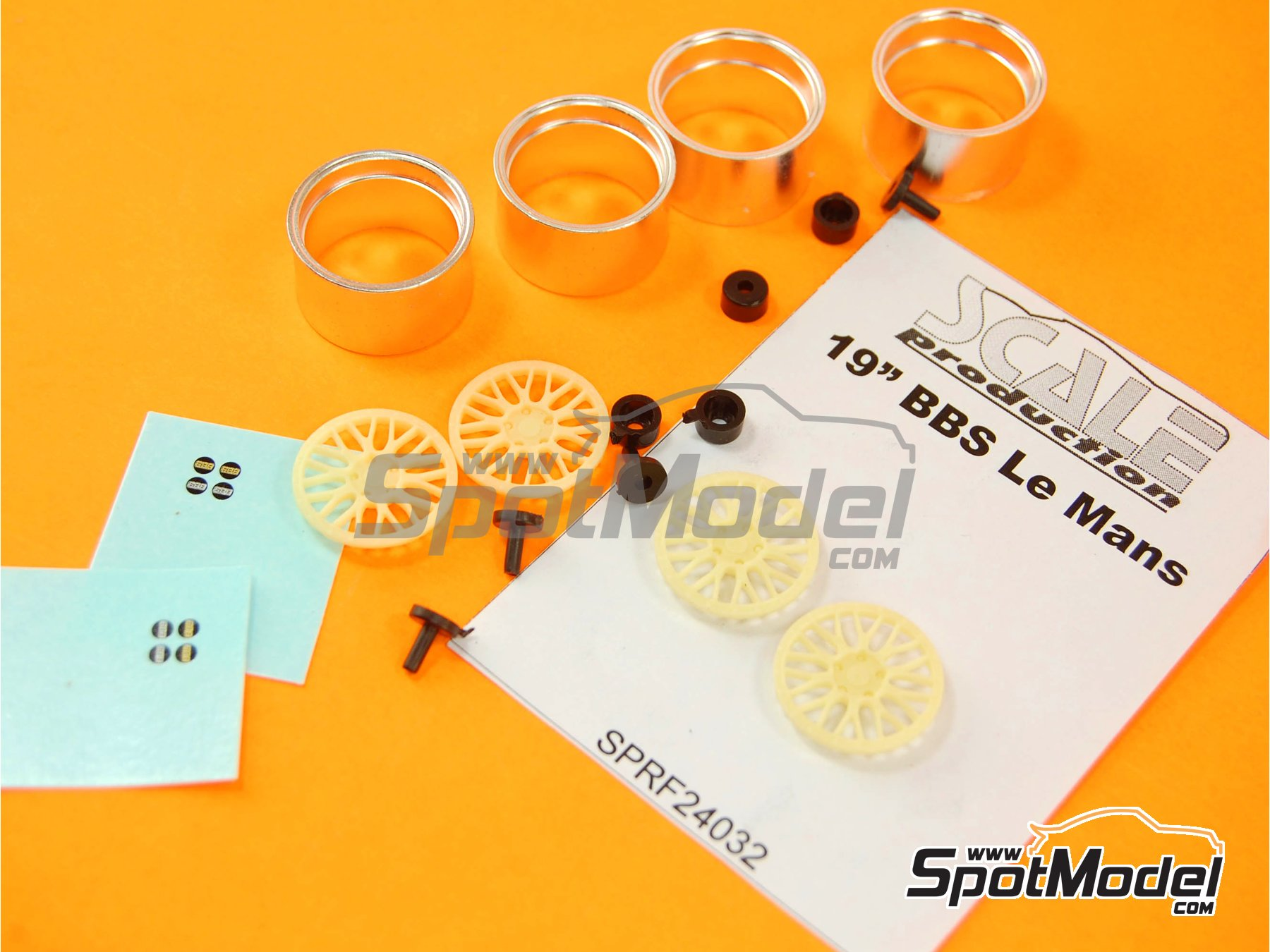 Image 8: BBS Le Mans 19 inches | Rims in 1/24 scale manufactured by Scale Production (ref.SPRF24032)