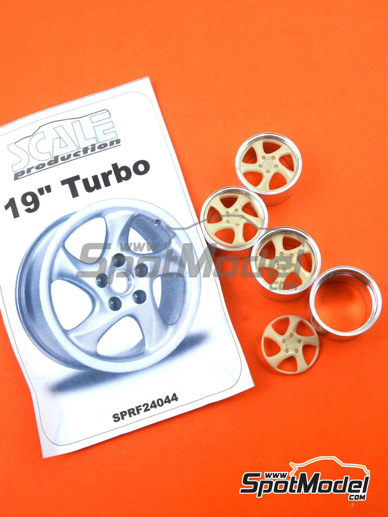 19'' Porsche Turbo   Rims in 1/24 scale manufactured by Scale Production (ref.SPRF24044) image