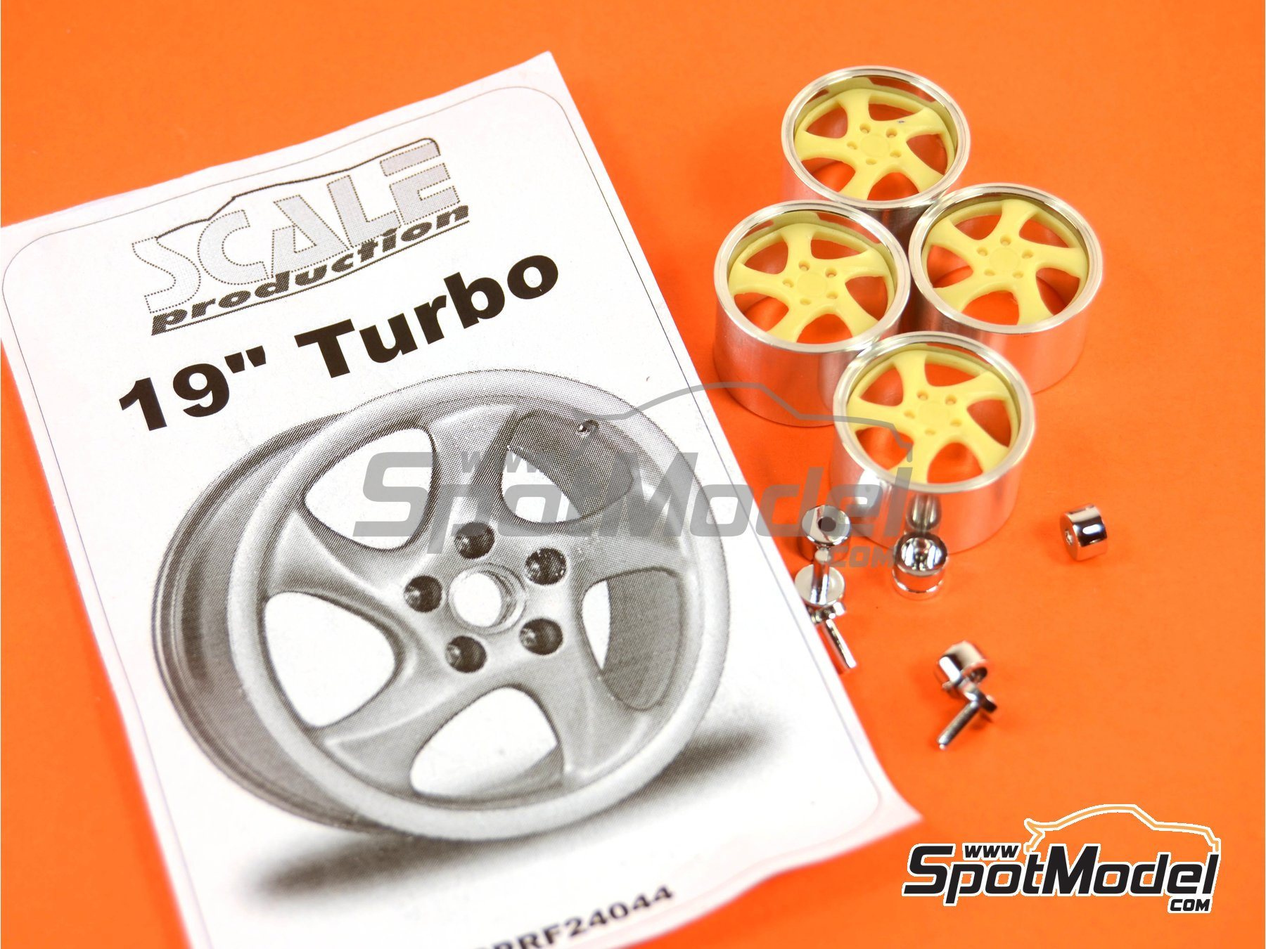Image 6: 19'' Porsche Turbo   Rims in 1/24 scale manufactured by Scale Production (ref.SPRF24044)