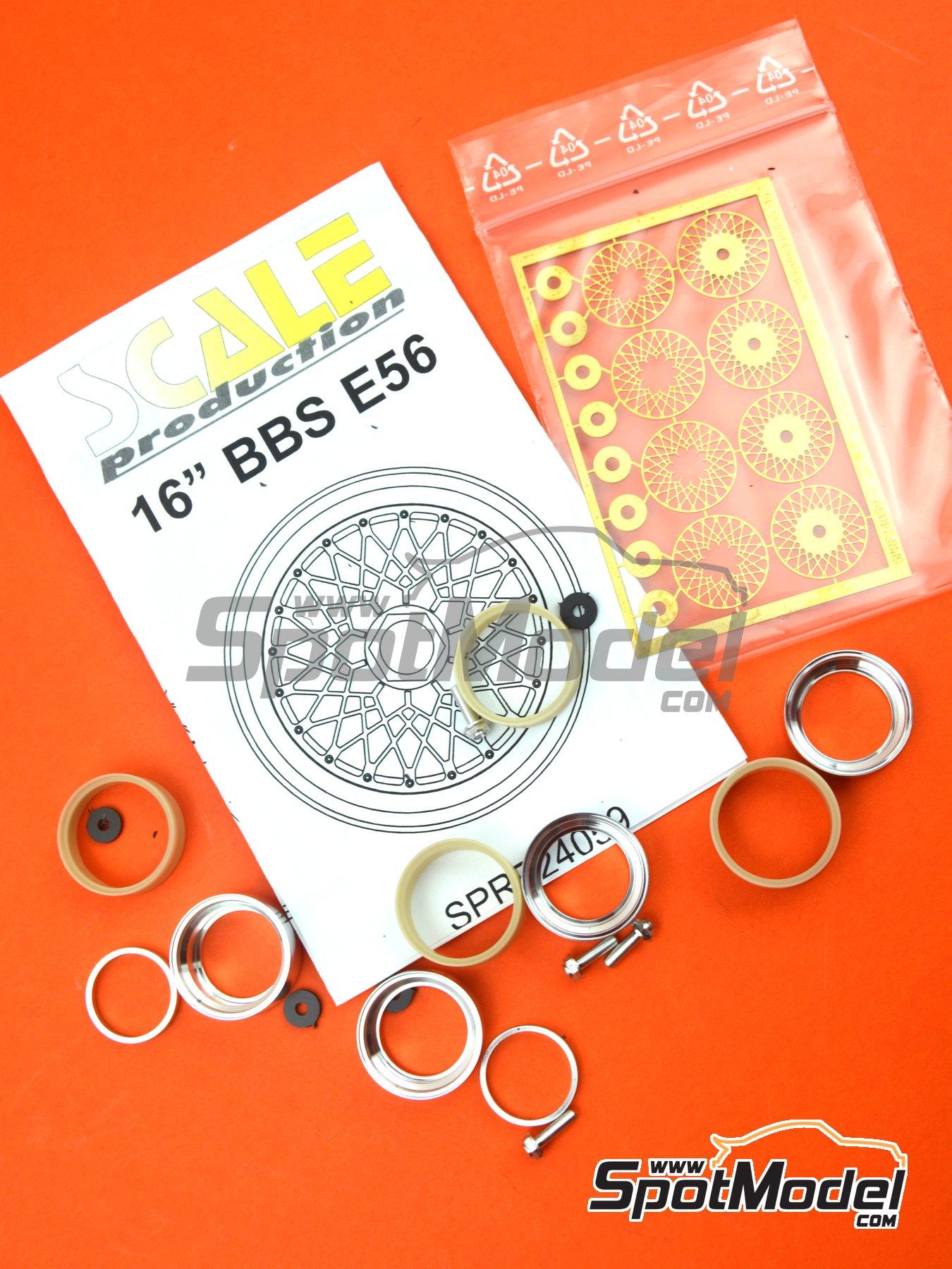 BBS E56 16 pulgadas   Llantas en escala1/24 fabricado por Scale Production (ref.SPRF24059) image
