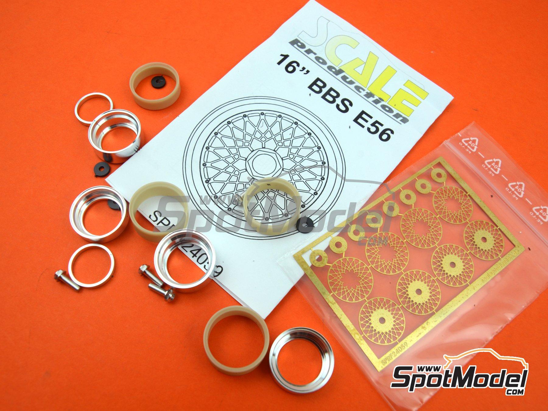 Image 1: BBS E56 16 pulgadas   Llantas en escala1/24 fabricado por Scale Production (ref.SPRF24059)