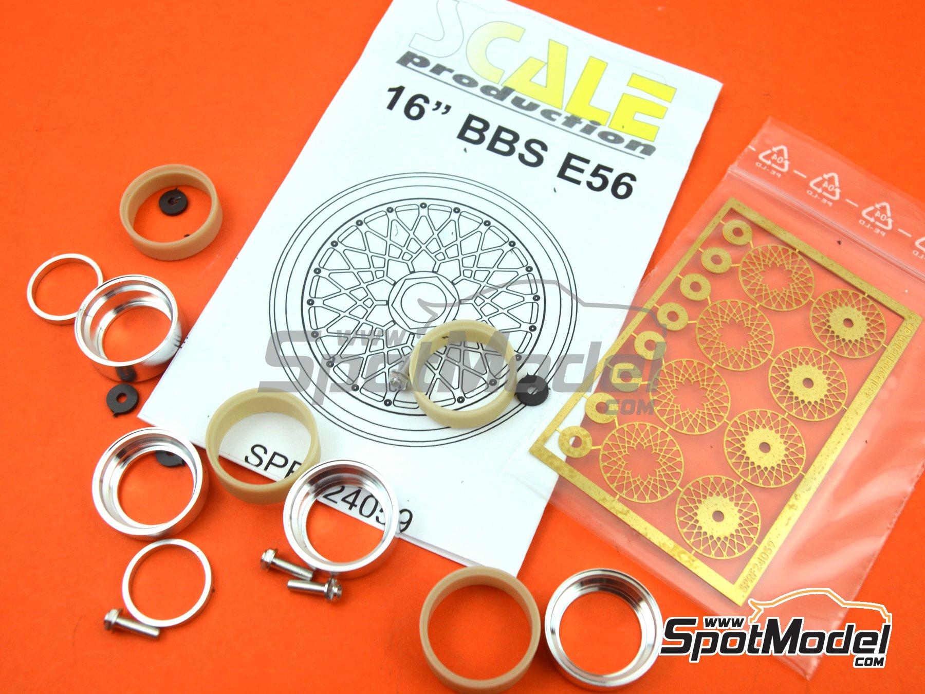 Image 2: BBS E56 16 pulgadas   Llantas en escala1/24 fabricado por Scale Production (ref.SPRF24059)