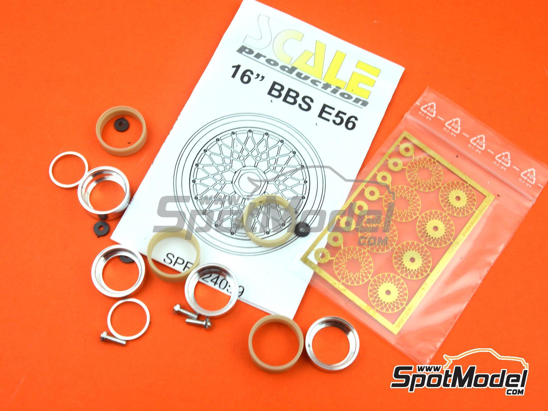 Image 5: BBS E56 16 pulgadas   Llantas en escala1/24 fabricado por Scale Production (ref.SPRF24059)