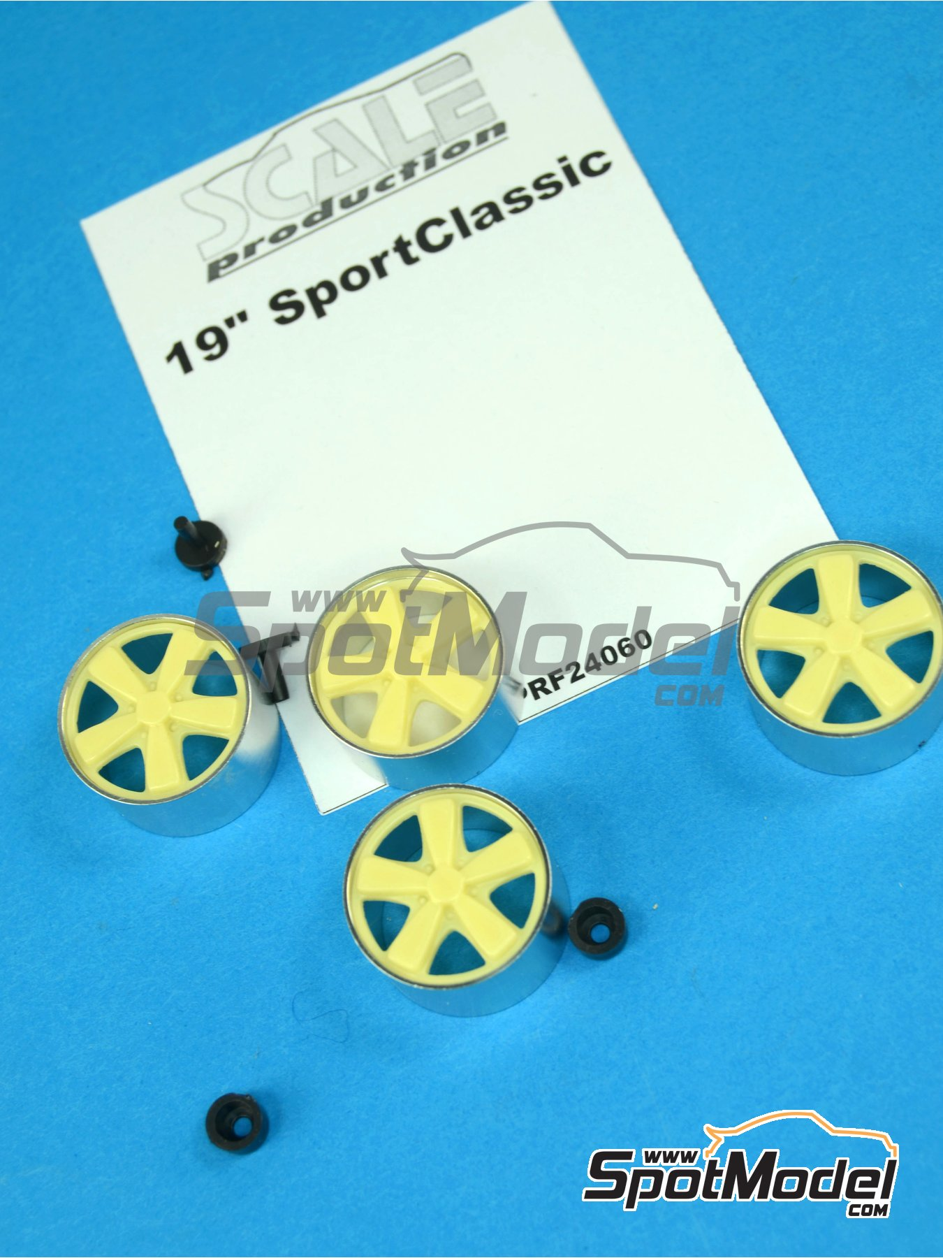 19 inches Porsche Sport Classic | Rims in 1/24 scale manufactured by Scale Production (ref.SPRF24060) image