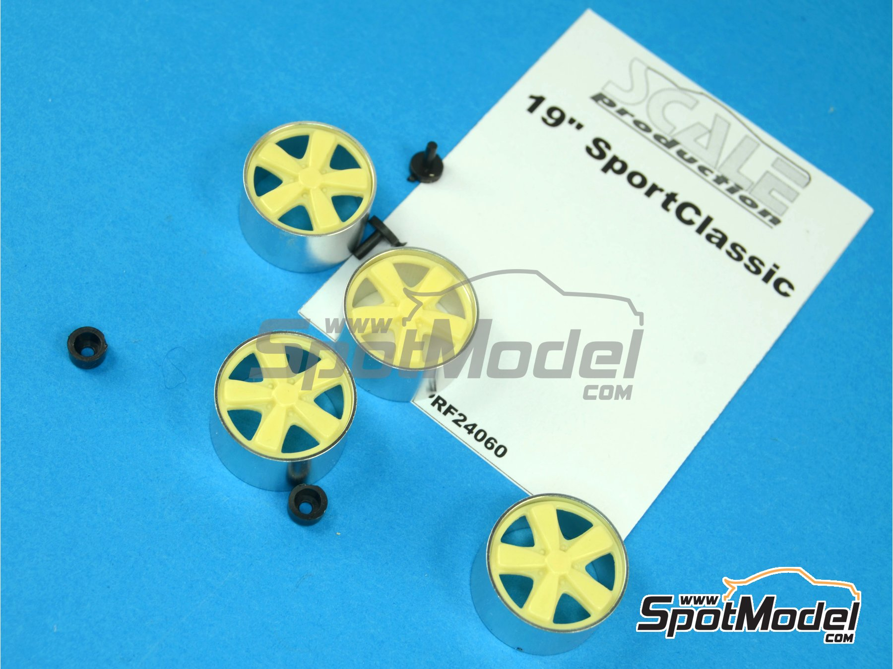 Image 5: 19 inches Porsche Sport Classic | Rims in 1/24 scale manufactured by Scale Production (ref.SPRF24060)