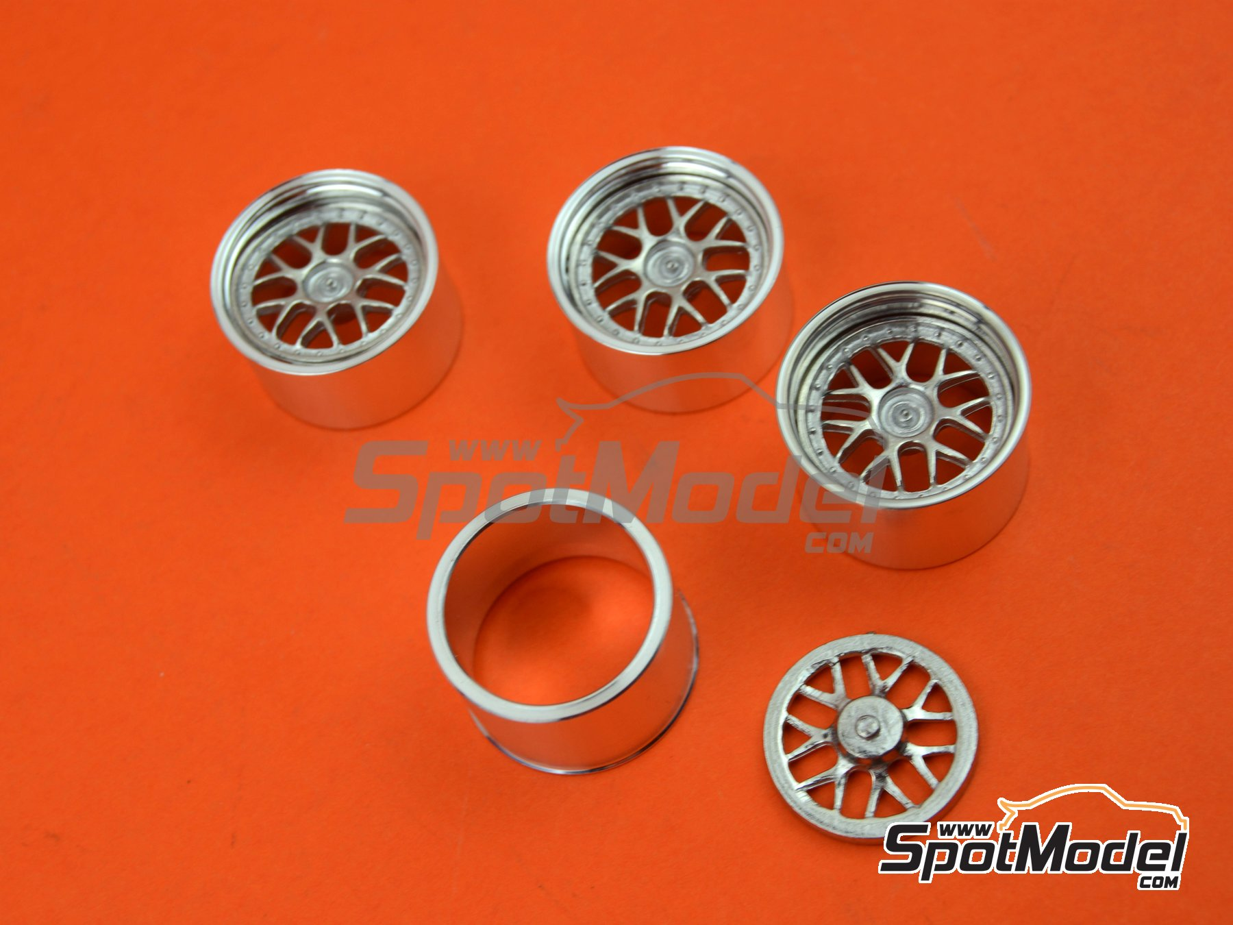 Image 1: BBS GT3 Cup 19 inches | Rims in 1/24 scale manufactured by Scale Production (ref. SPRF24061)