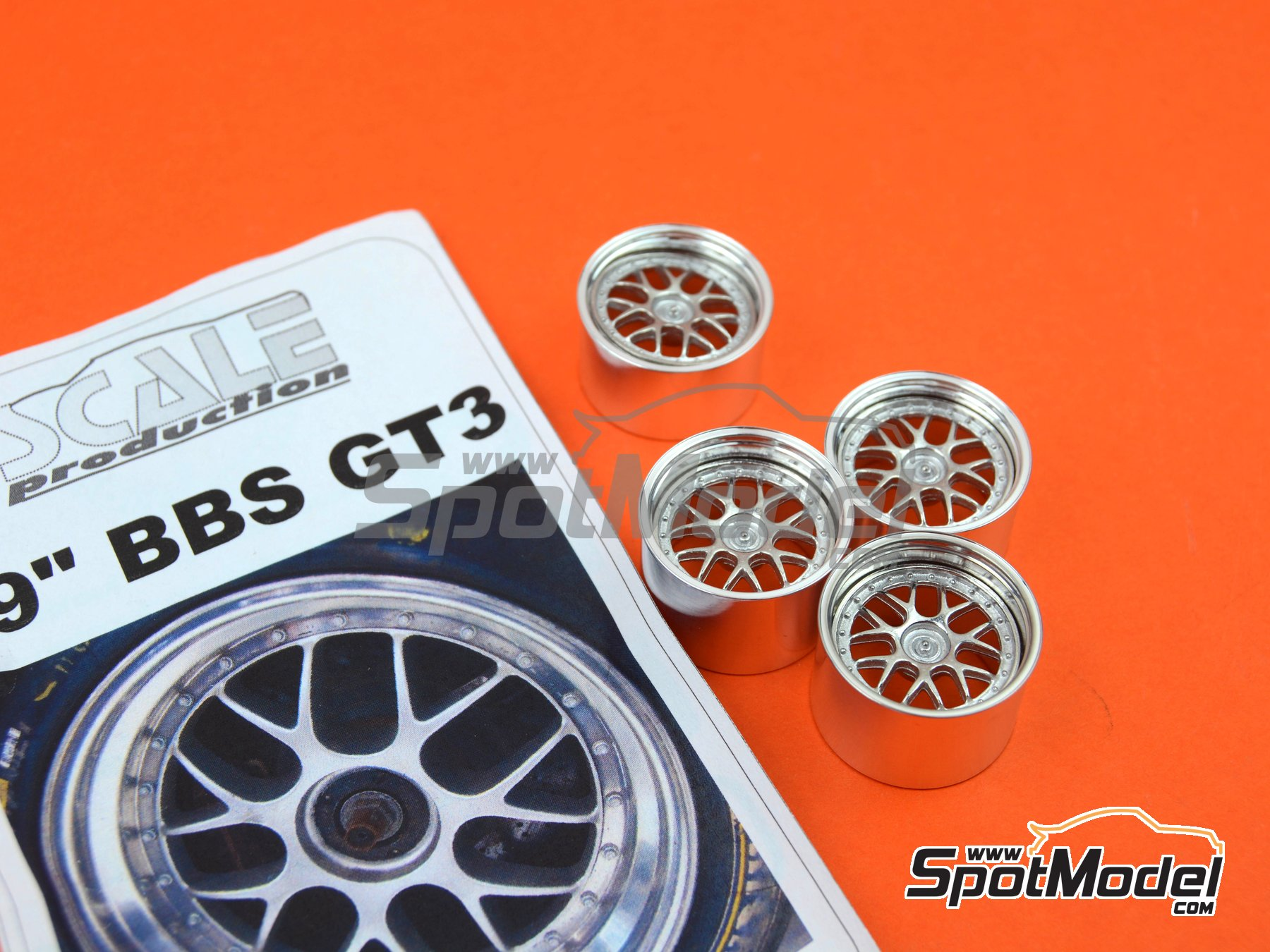 Image 5: BBS GT3 Cup 19 inches | Rims in 1/24 scale manufactured by Scale Production (ref. SPRF24061)