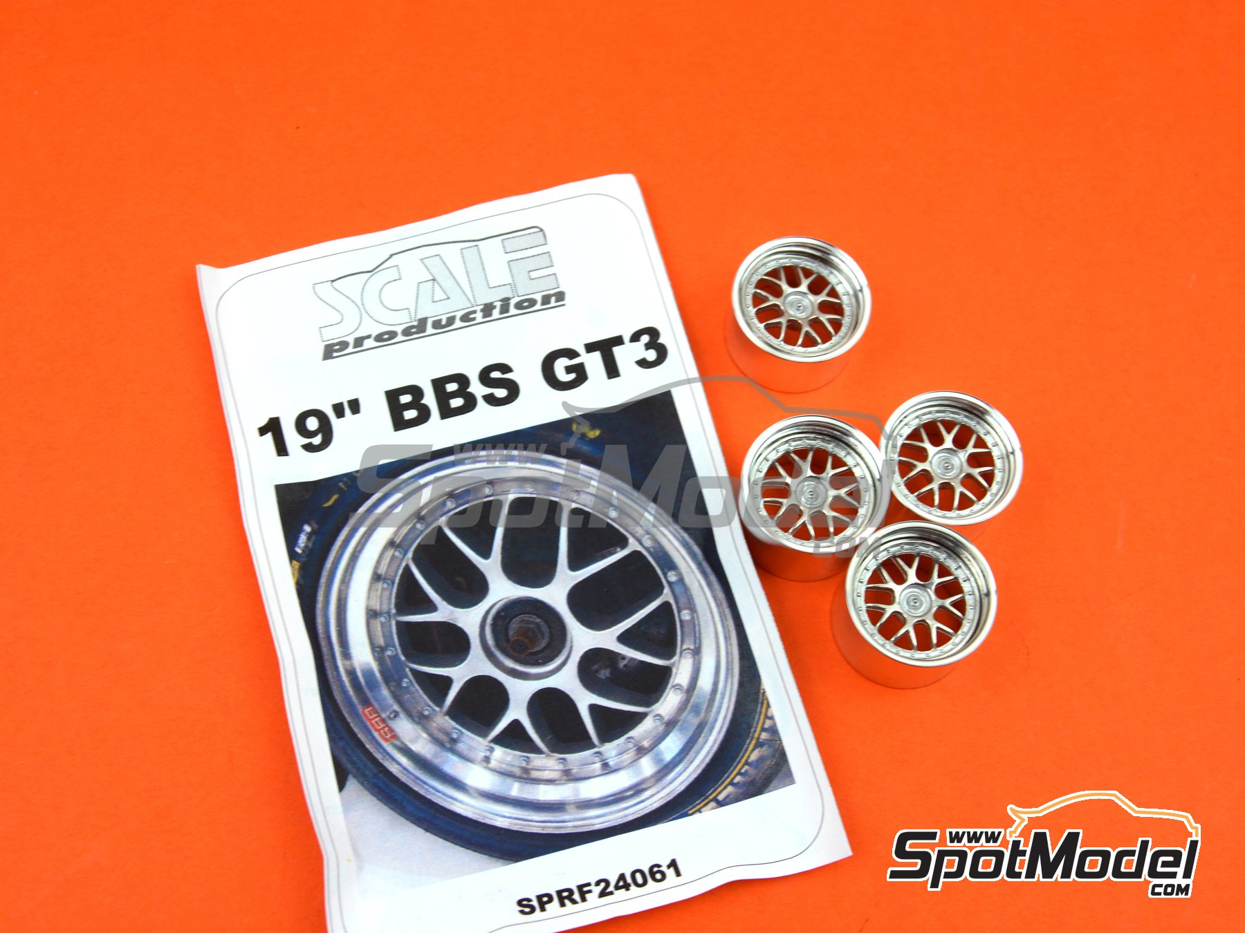 Image 6: BBS GT3 Cup 19 inches | Rims in 1/24 scale manufactured by Scale Production (ref. SPRF24061)