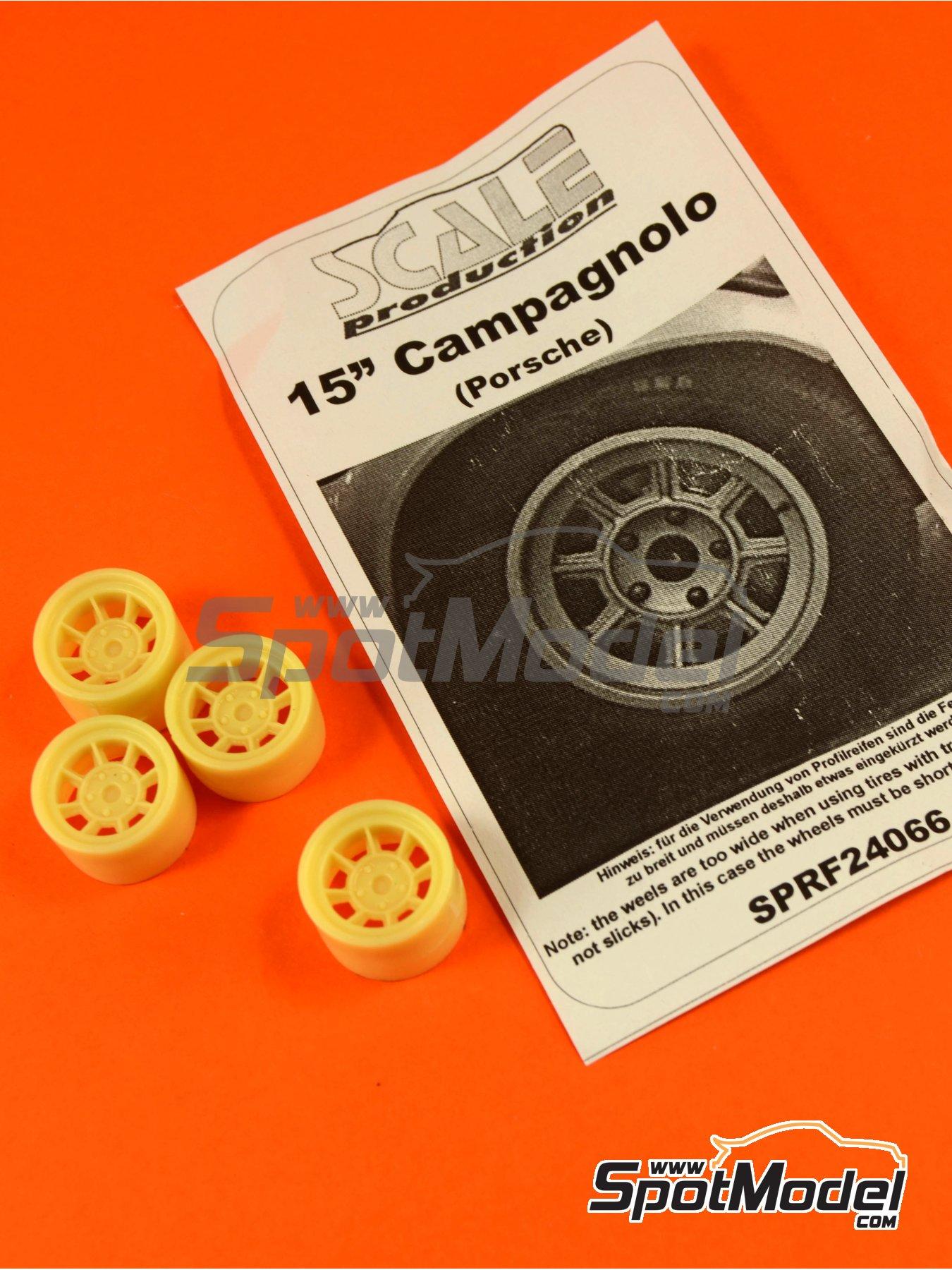 Campagnolo de 15 pulgadas para vehículos Porsche clásicos | Llantas en escala1/24 fabricado por Scale Production (ref.SPRF24066) image